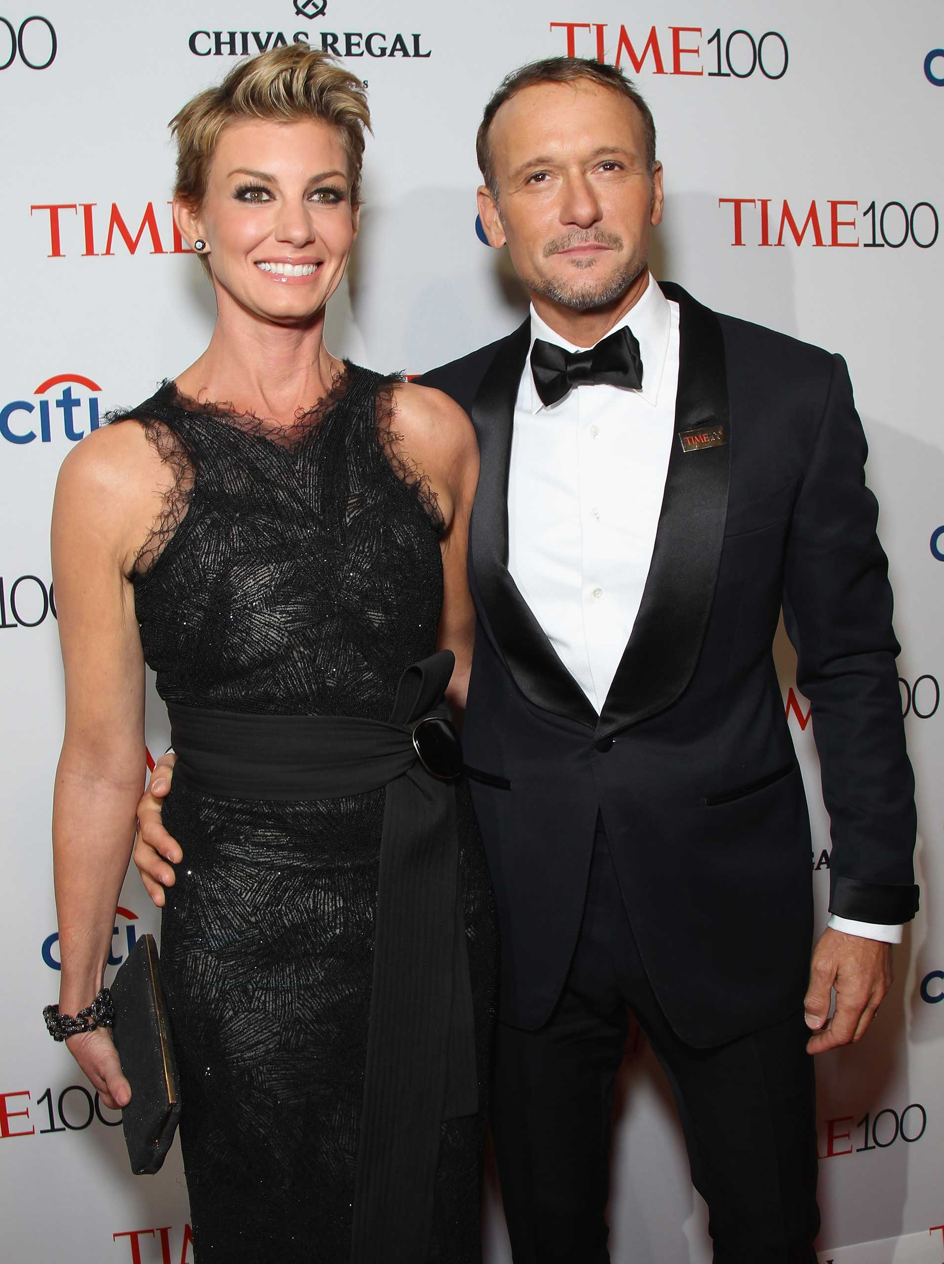 Faith Hill and Tim McGraw attend the TIME 100 Gala at Jazz at Lincoln Center in New York City on Apr. 21, 2015.