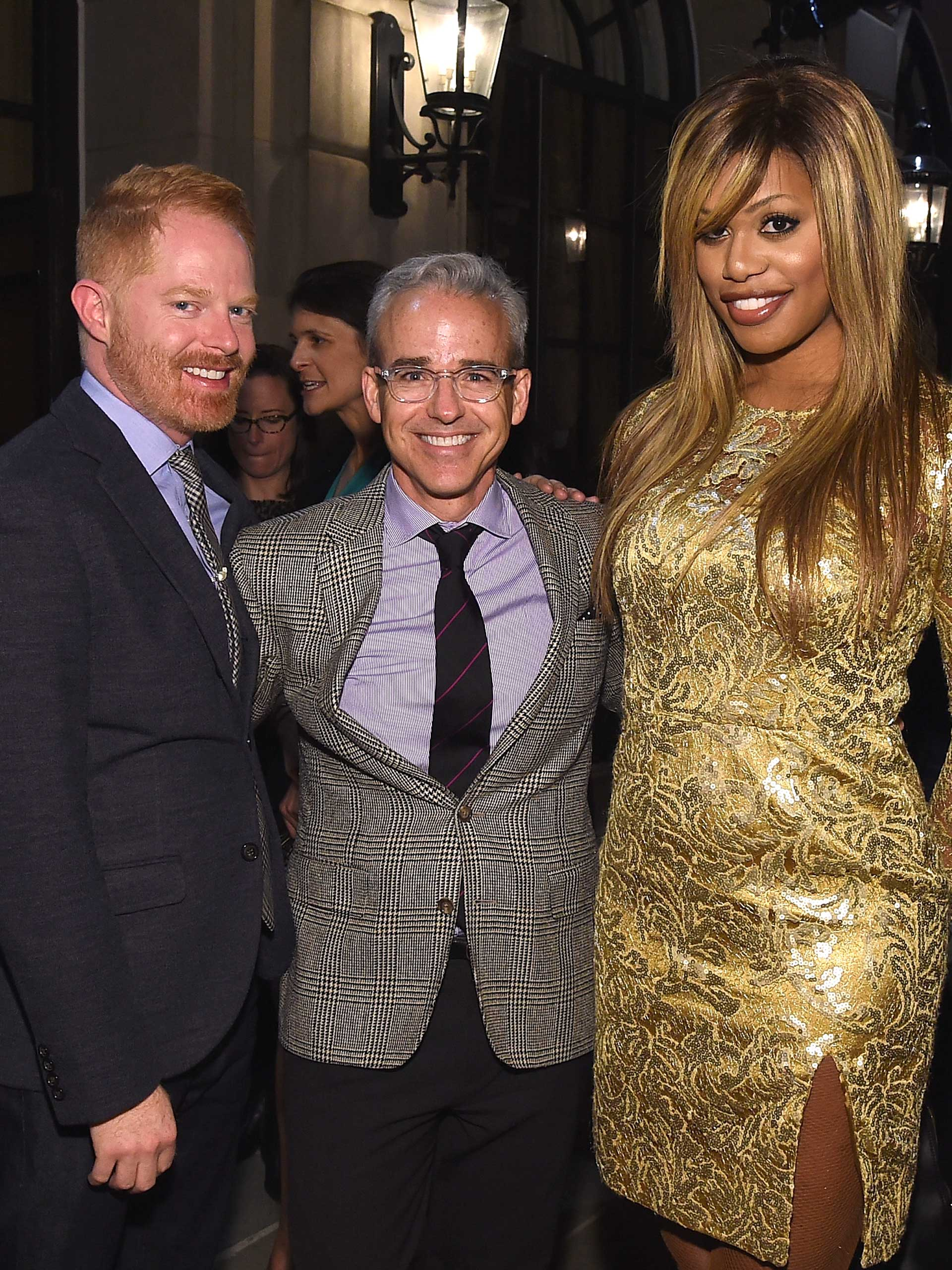 Jesse Tyler Ferguson, Laverne Cox and Editorial Director of PEOPLE Magazine Jess Cagle