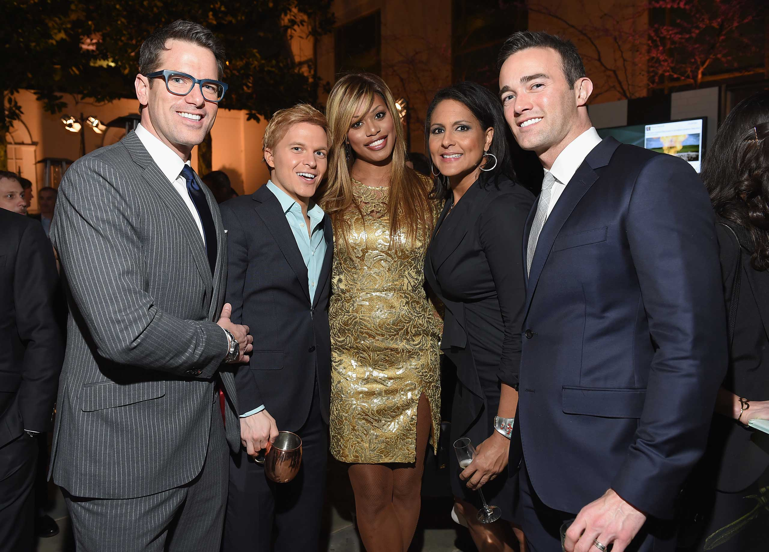 MSNBC's Thomas Roberts and Ronan Farrow, Actress Laverne Cox, MSNBC political commentator Karen Finney and guest