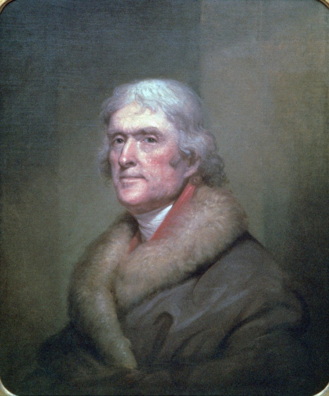 An 1805 portrait of Thomas Jefferson