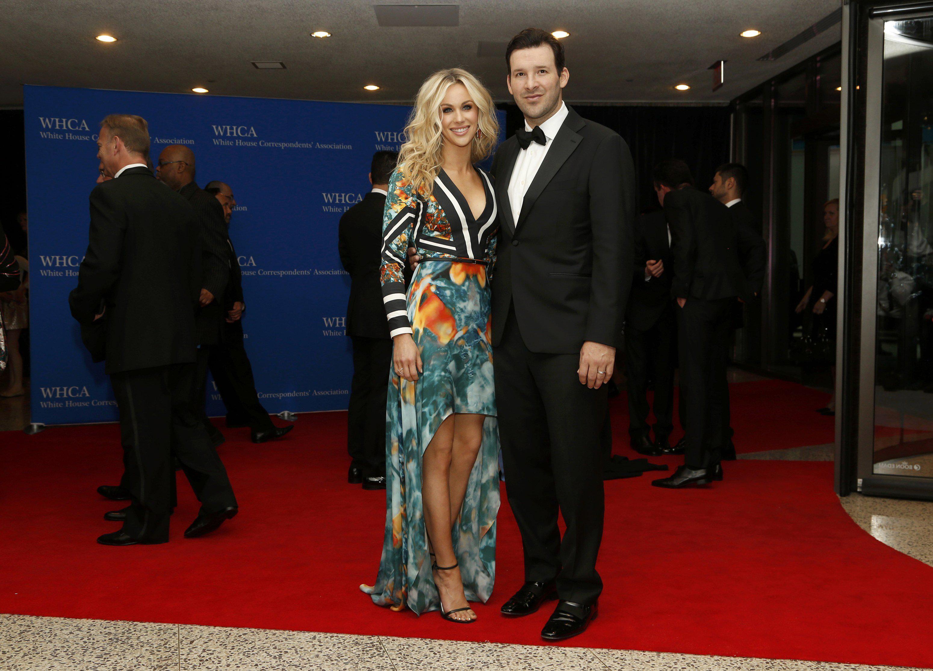Dallas Cowboys quarterback Tony Romo and his wife, Candice.