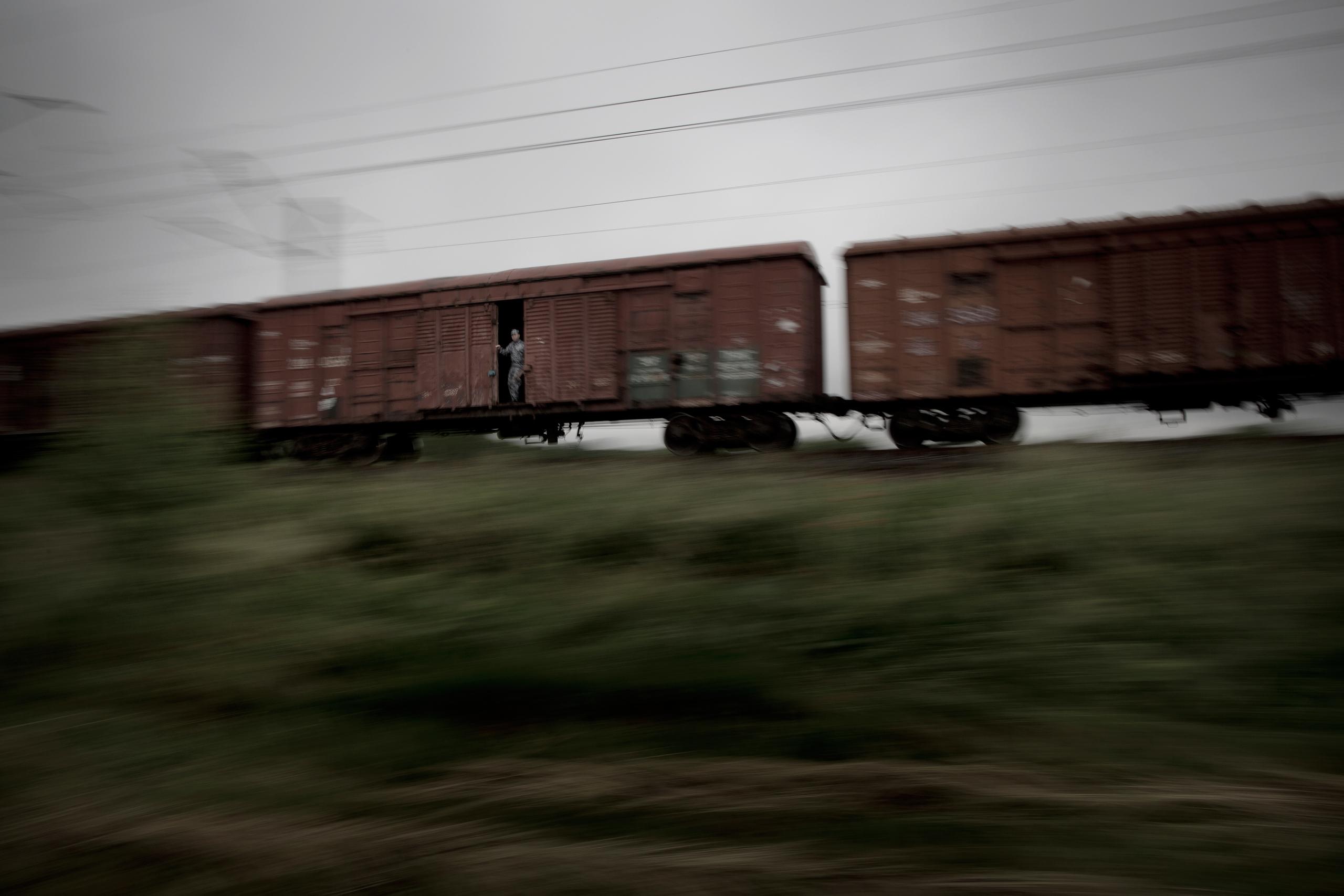 War materiel on the way to Eastern Ukraine.
