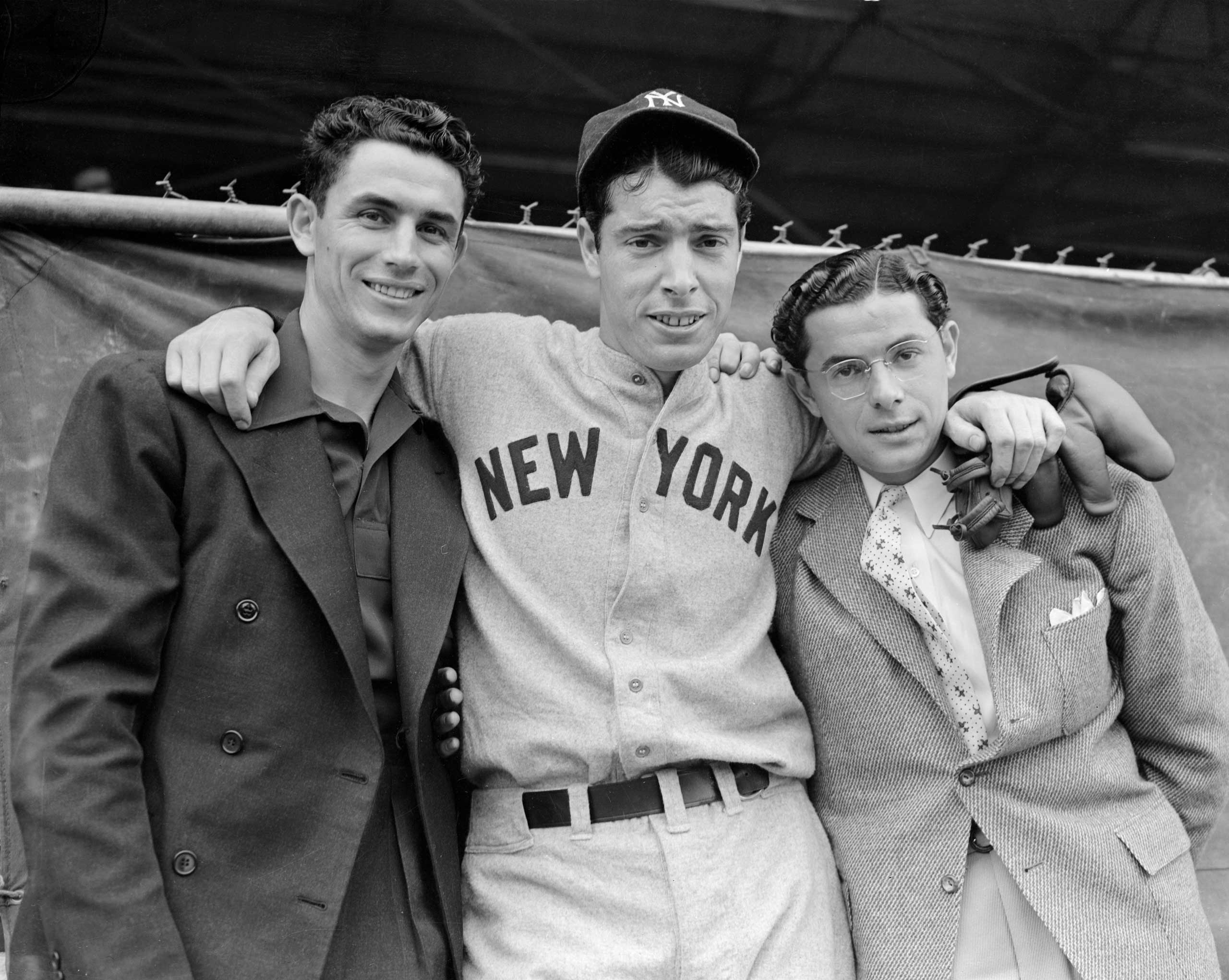 THE DIMAGGIOS: Joltin' Joe was one of nine children. His older brother Vince, left, and younger brother Dom also made it to the major leagues.