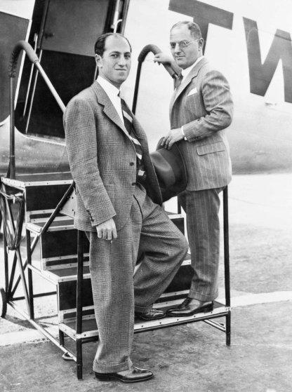 Gershwin Brothers Stepping onto TWA Airplane