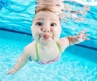 See 11 Adorable Babies Swimming Underwater