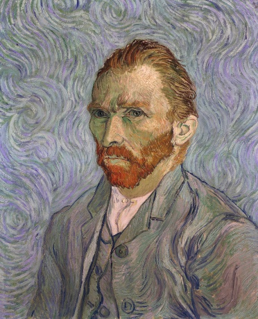 Self-Portrait, by Vincent Van Gogh, 1889