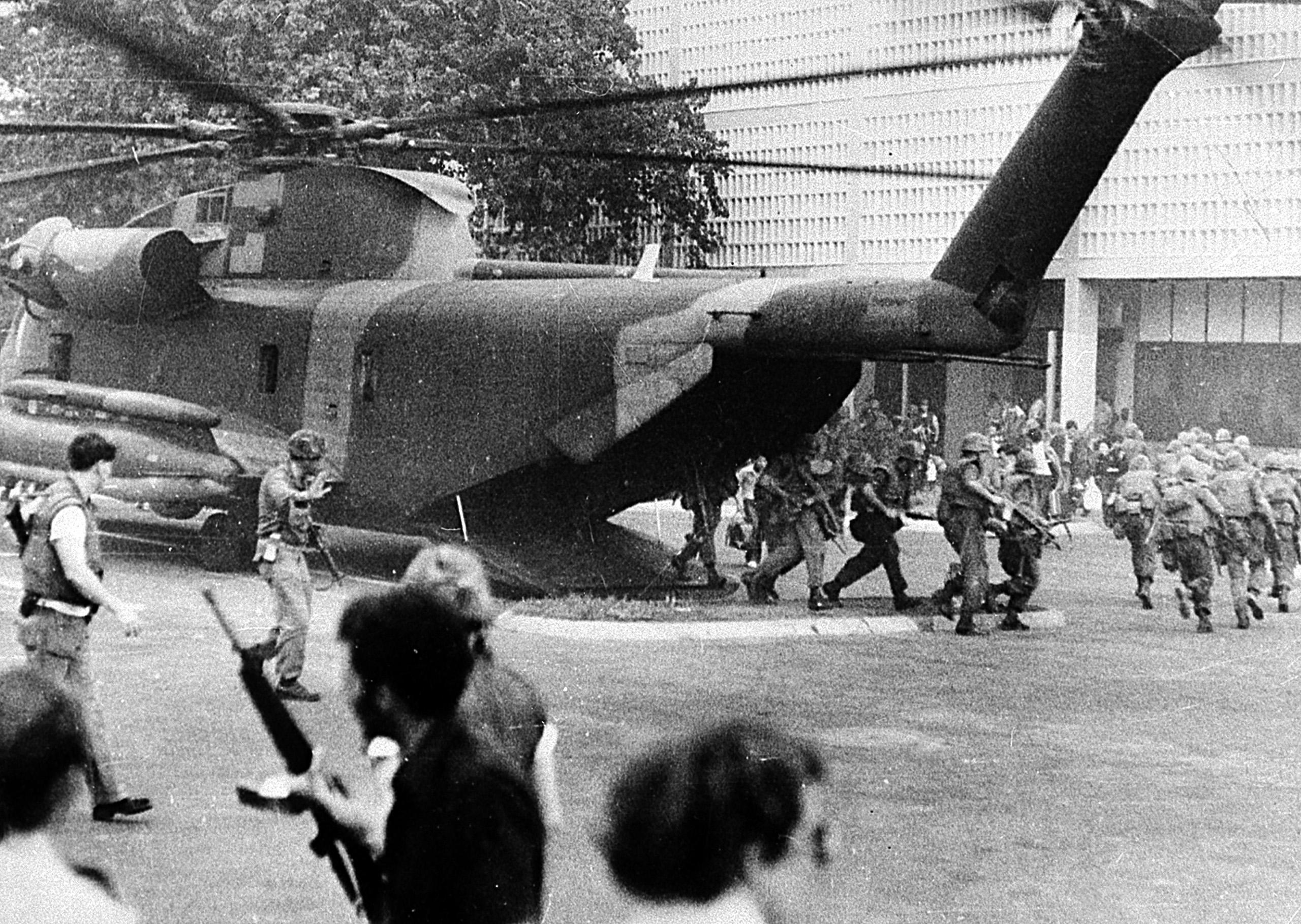 U.S. Marines' helicopter evacuation.