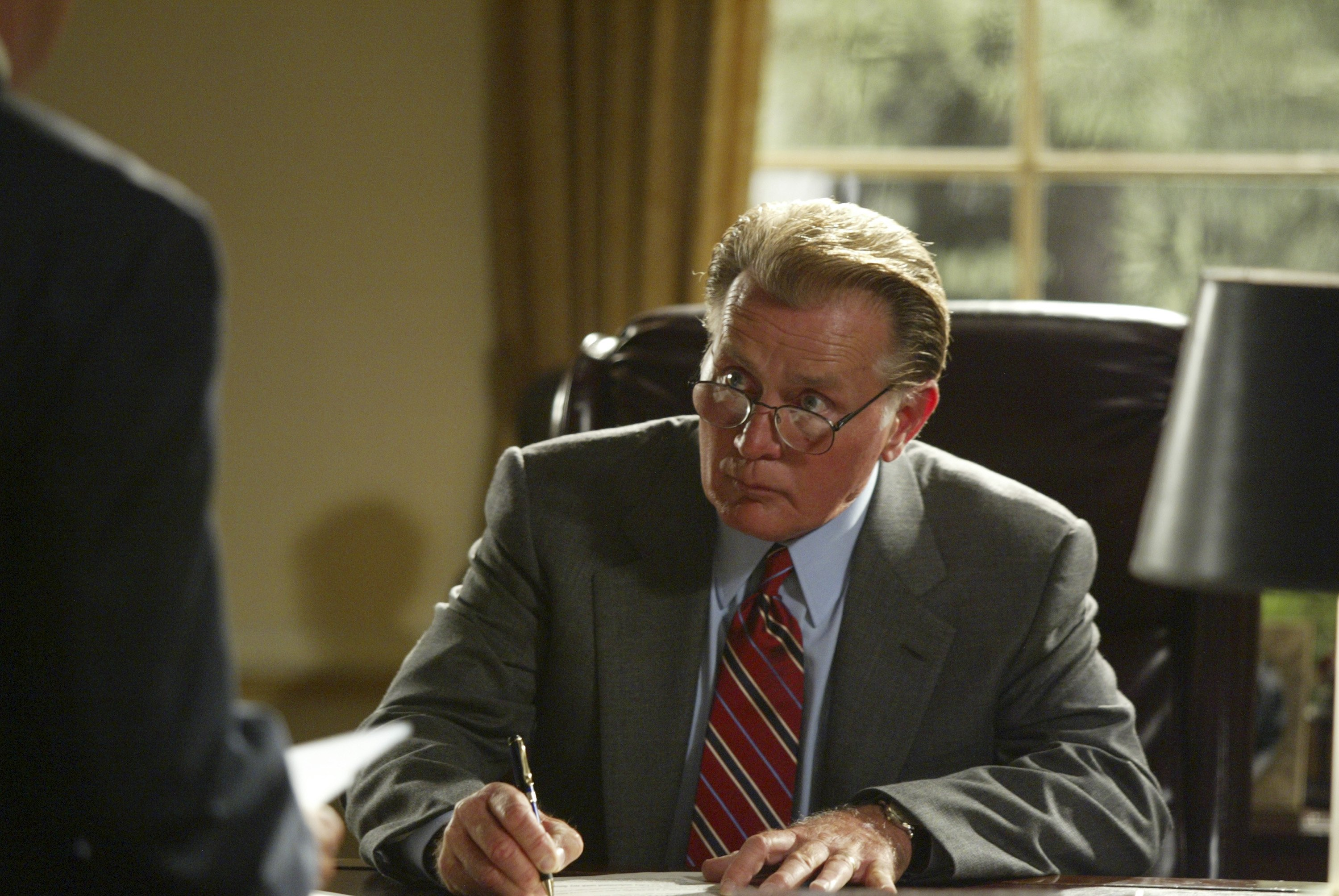 Martin Sheen as President Josiah  Jed  Bartlet in  The West Wing .