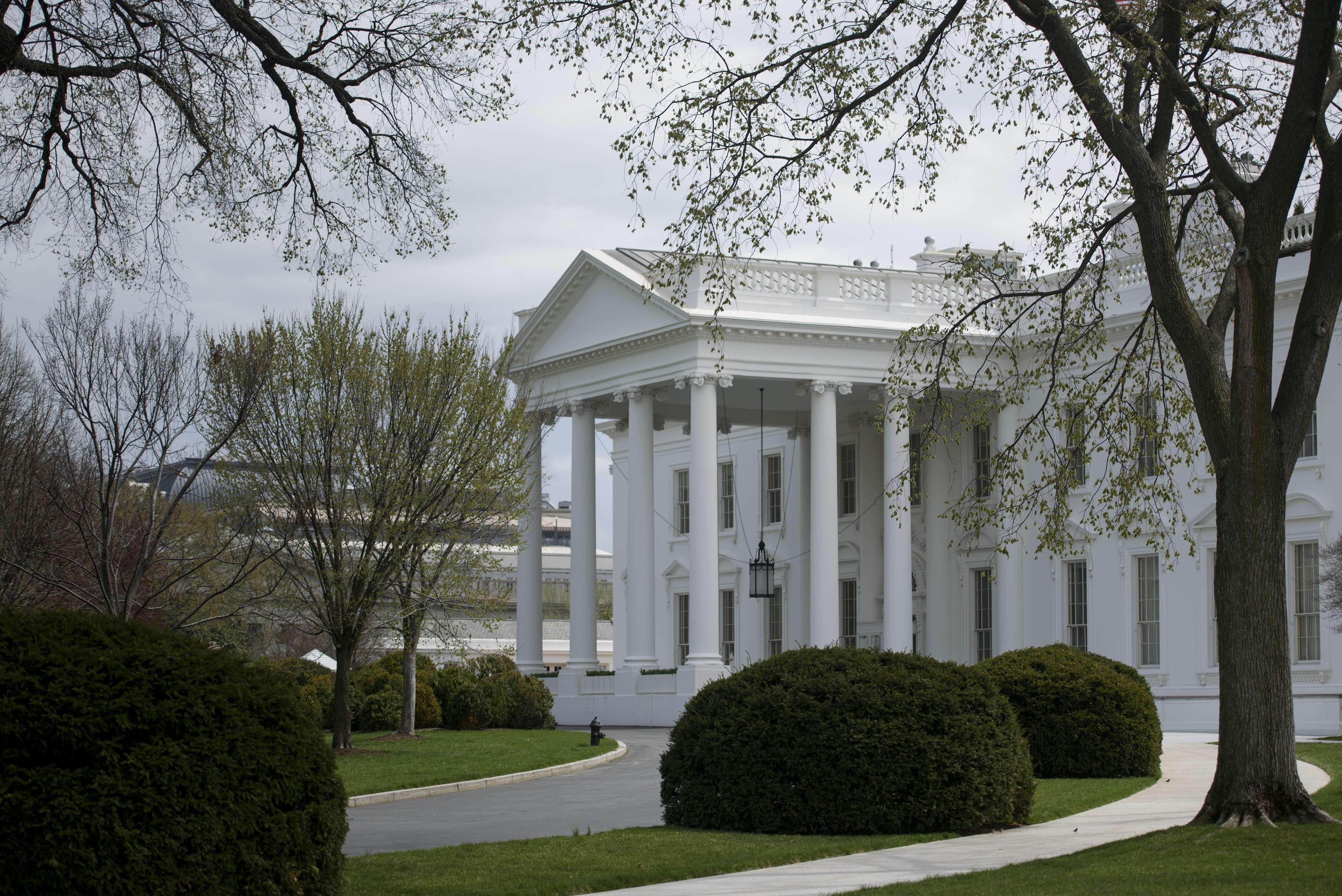 The White House seen on April 7, 2015 in Washington.