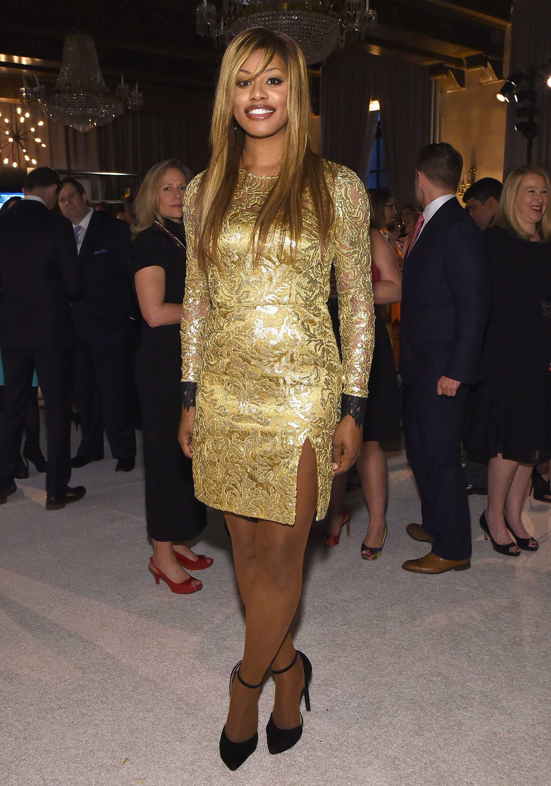 Actress Laverne Cox attends TIME and PEOPLE's annual cocktail party on White House Correspondents' Weekend at St Regis Hotel in Washington, D.C., on April 24, 2015