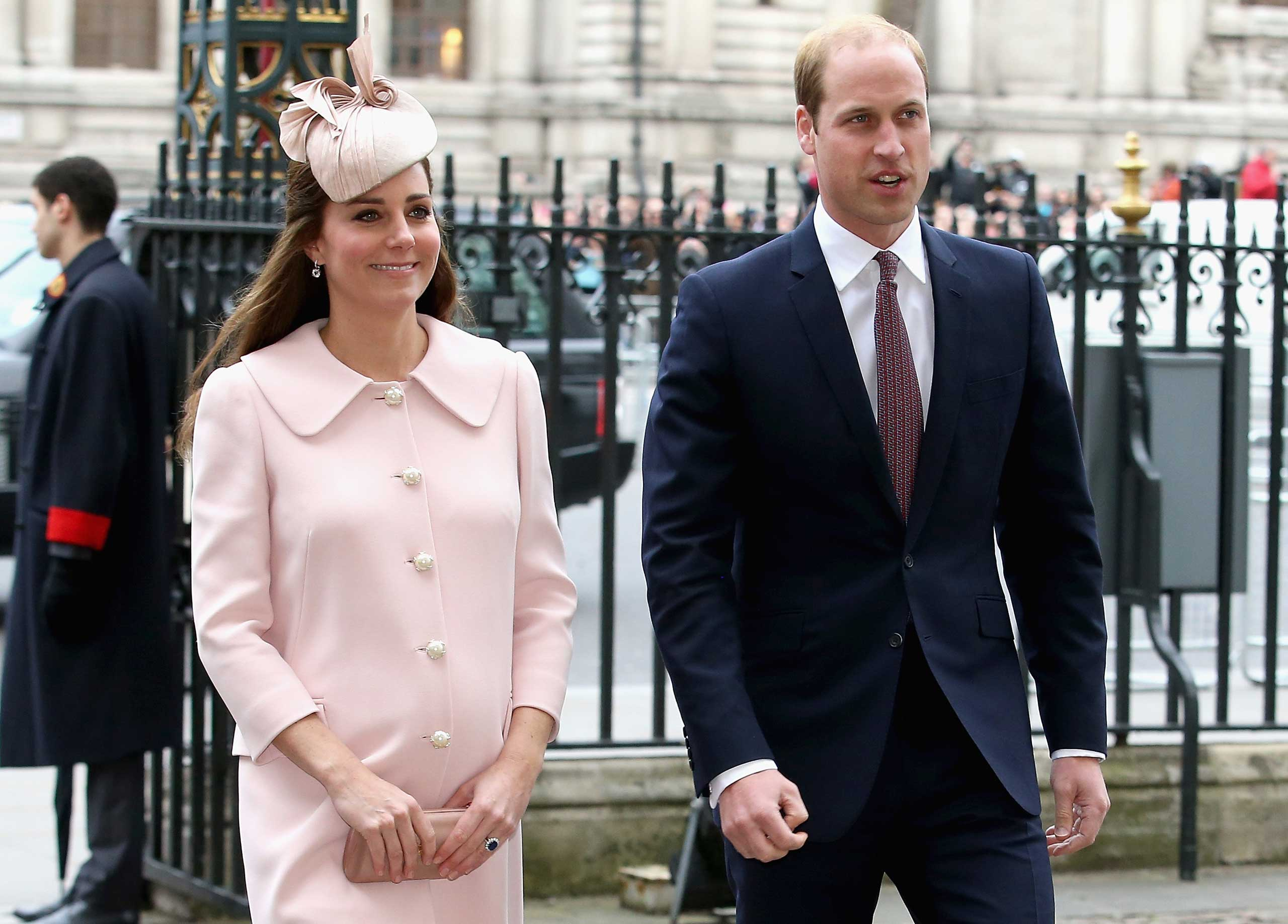 Catherine, Duchess of Cambridge and Prince William, Duke of Cambridge attend the Observance for Commonwealth Day Service At Westminster Abbey in London on March 9, 2015.