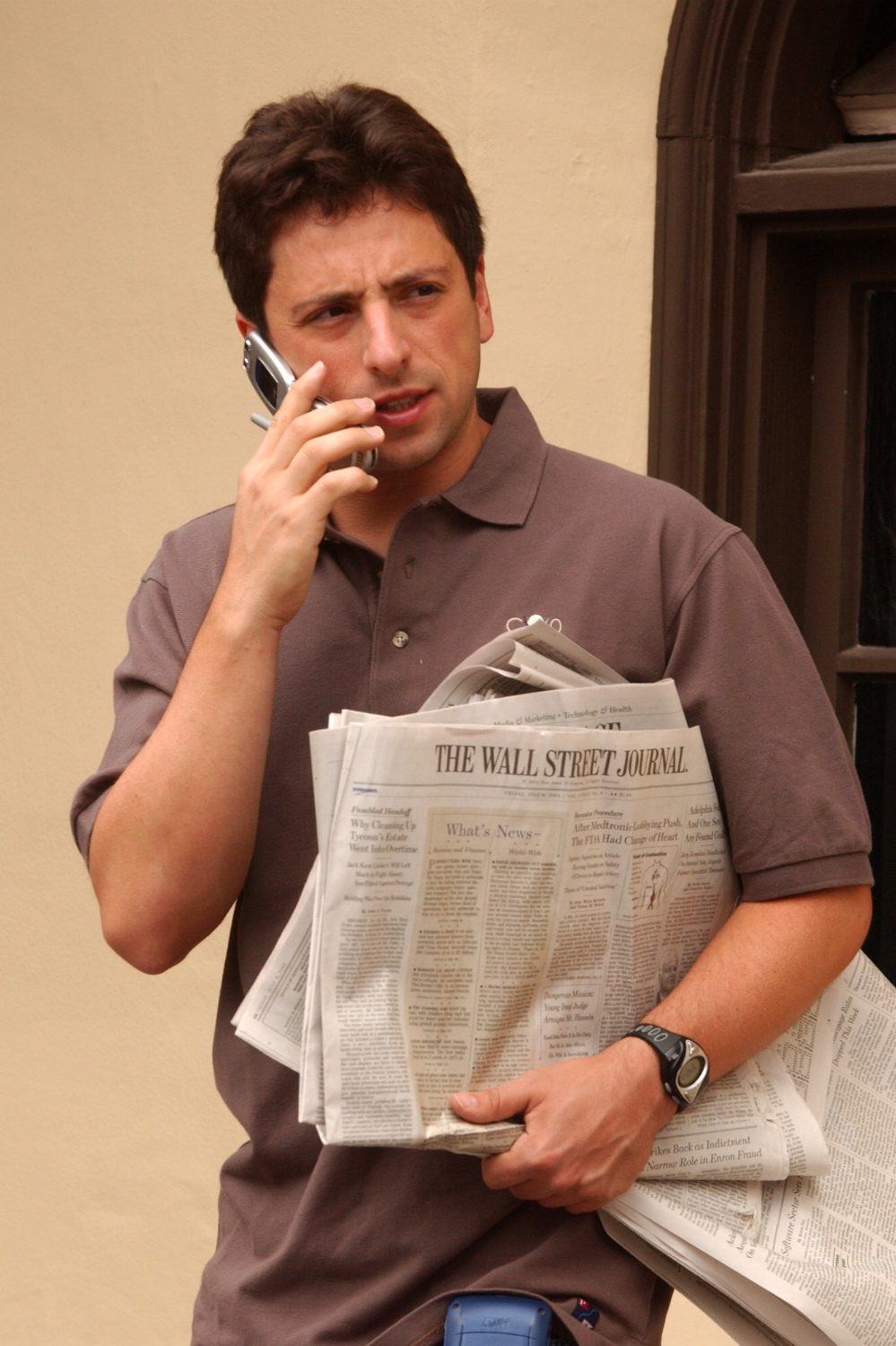 Google co-founder Sergey Brin in July 2004, a few months after Gmail's debut