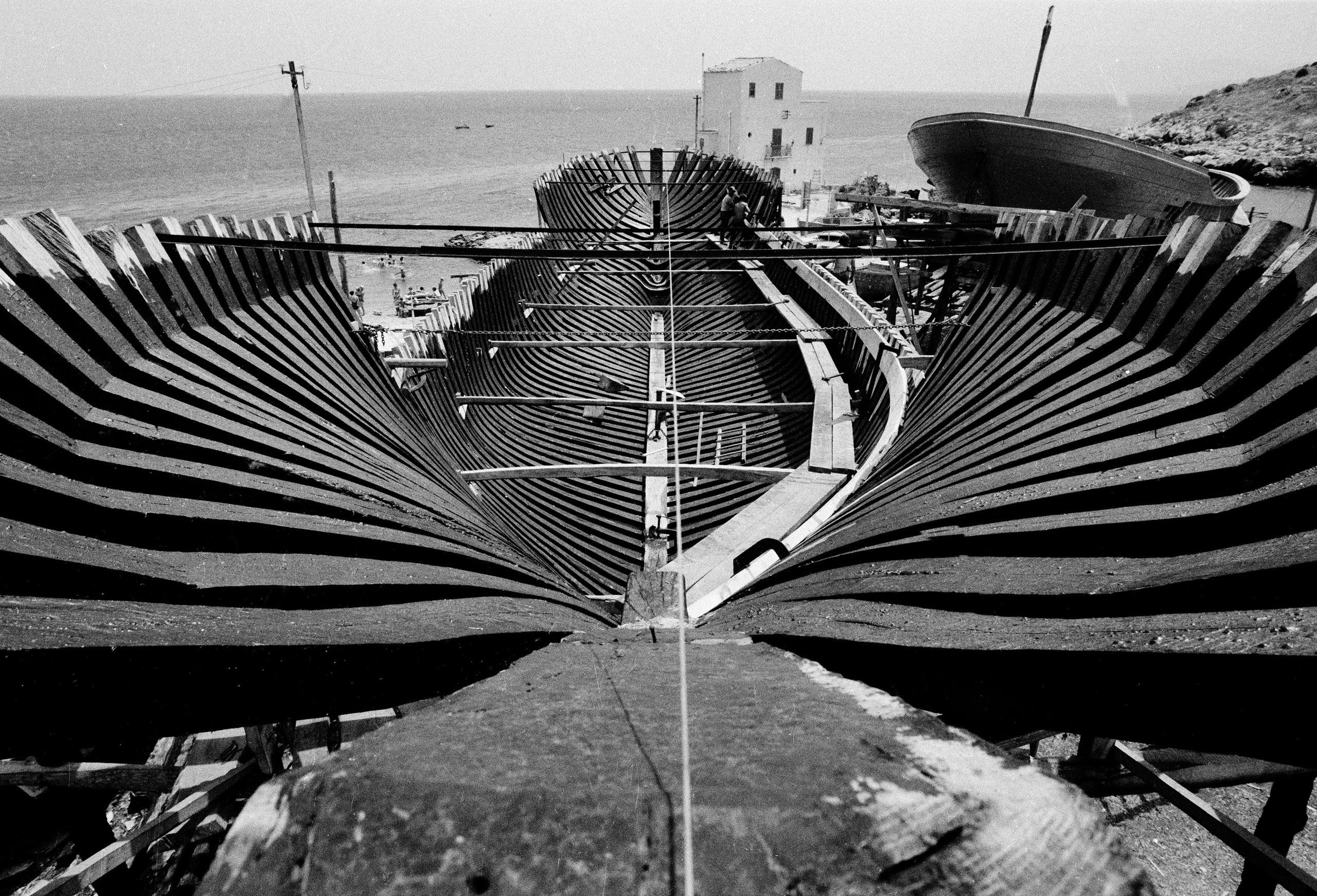 Boat Under Construction, Mediterranean sea.