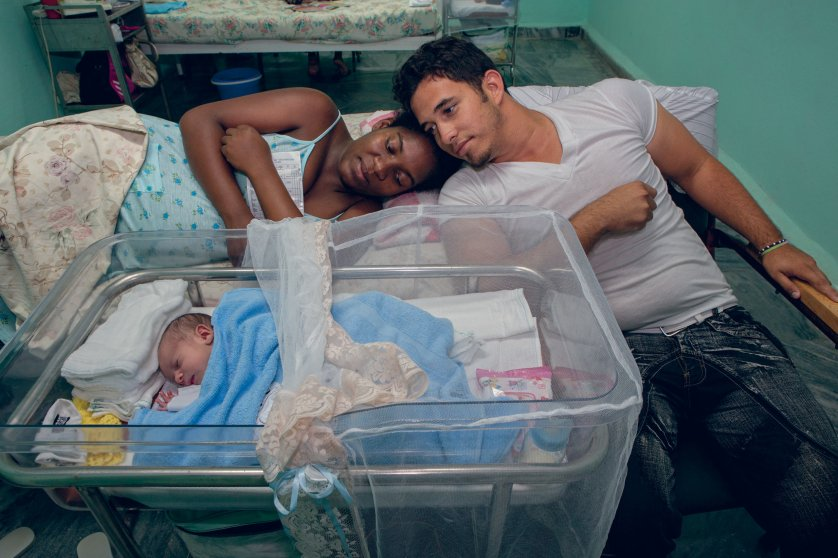 Eight-day-old Alain Daniel in the maternity ward at the main hospital on Cuba's Isle of Youth. The Atlantic Charitable Trust helped rebuild the island's medical infrastructure after a series of devastating hurricanes.