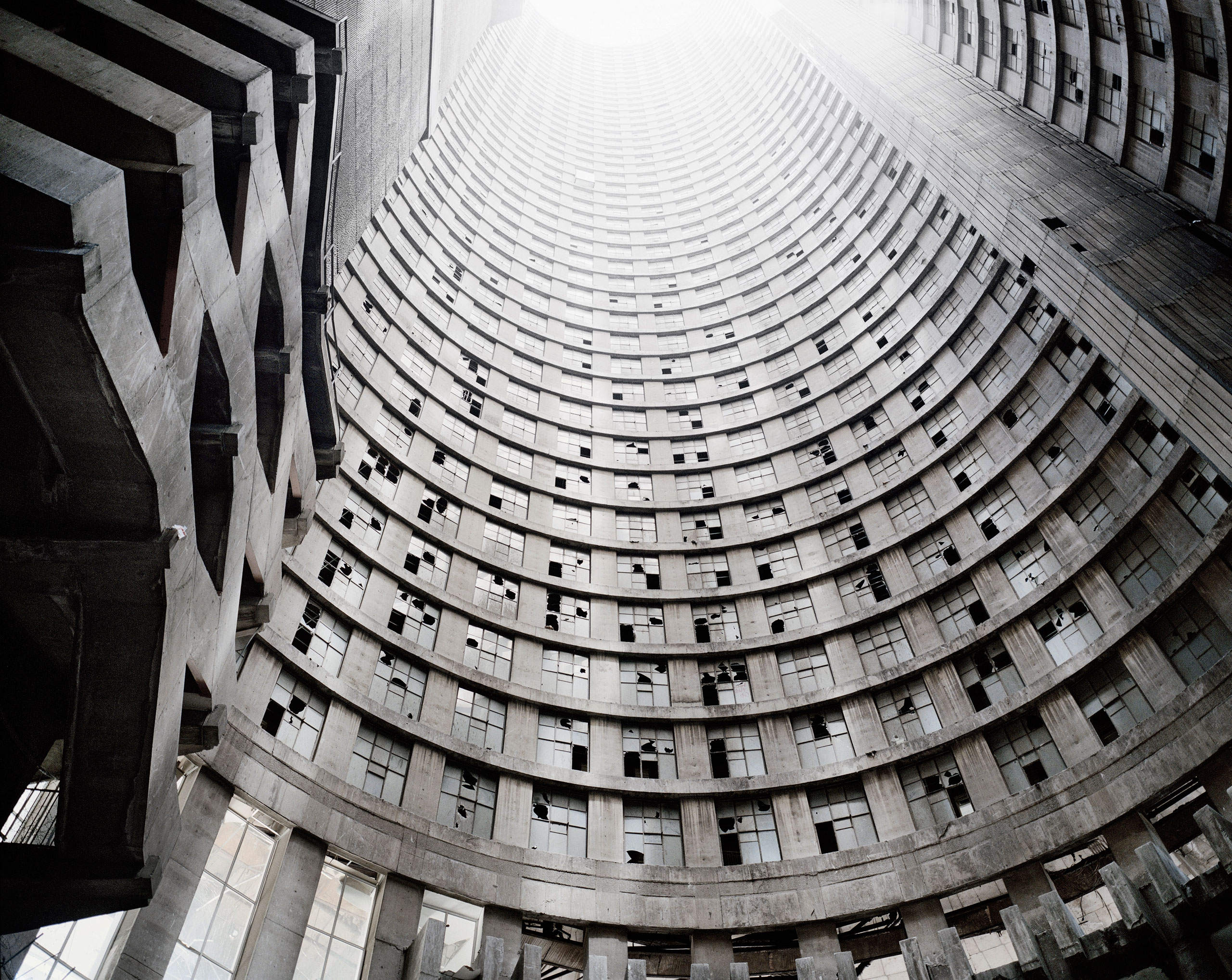 Looking up the core, Ponte City, Johannesburg. From the series Ponte City, 2008.