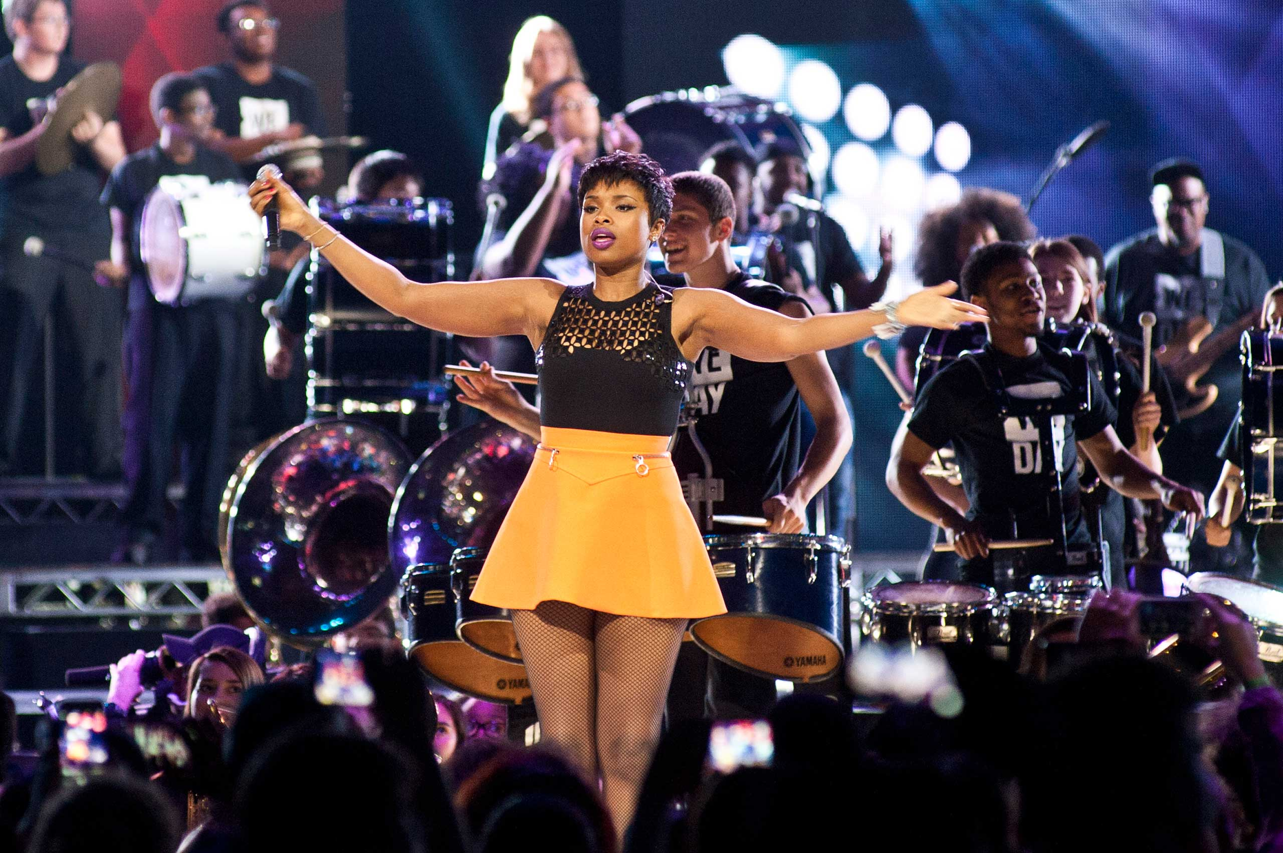 <b>Jennifer Hudson</b>, who came in 7th place on season 3, performs at We Day at Allstate Arena in Rosemont, Ill. on April 30, 2015.