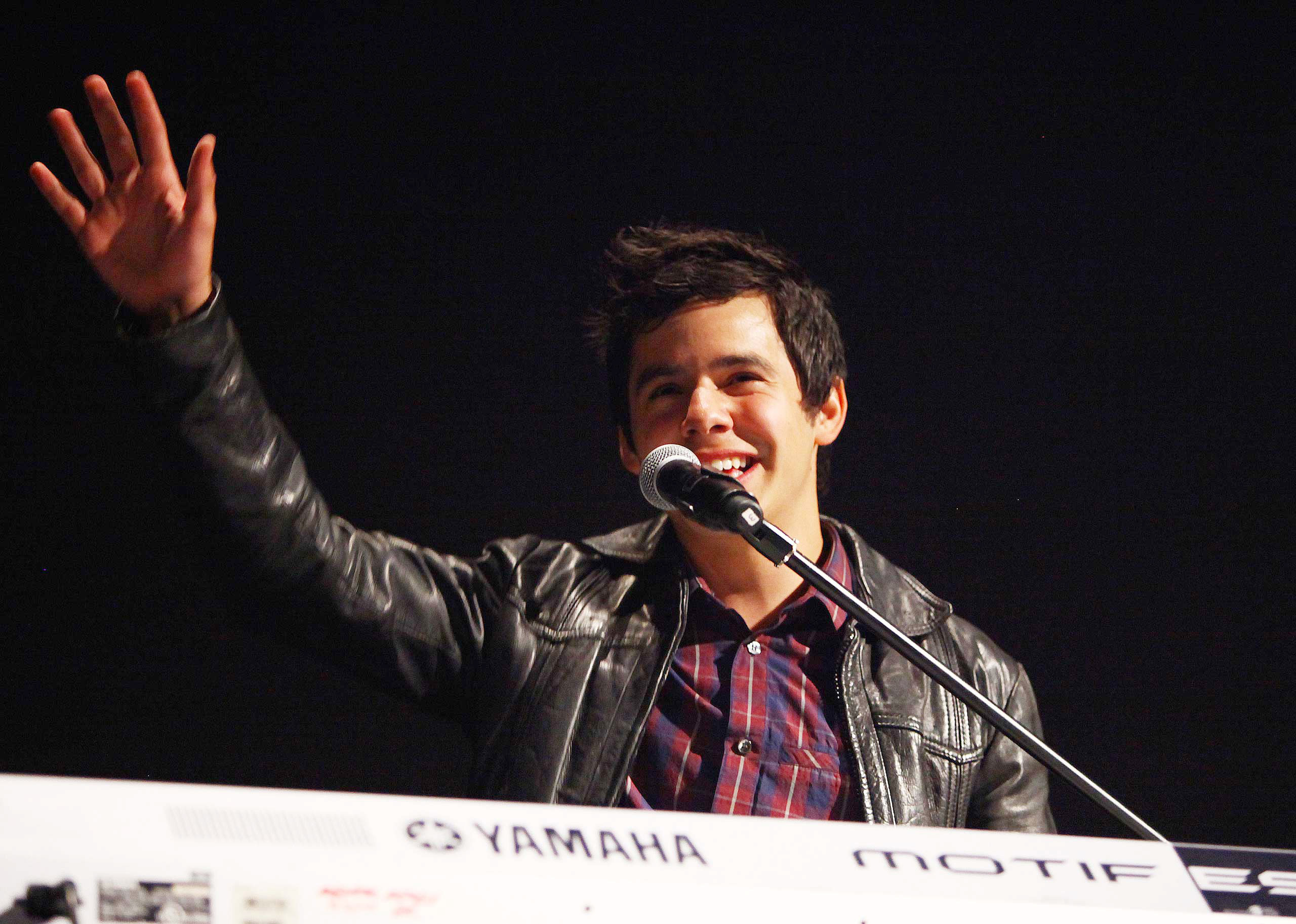 "<b>David Archuleta</b>, season 7 runner-up, performs at the KIIS FM's 10th Annual ""American Idol"" Finale Viewing Party at Regal 14 at LA Live Downtown in Los Angeles on May 25, 2011."