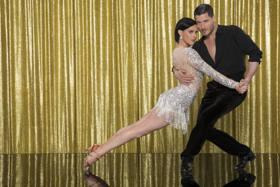 DANCING WITH THE STARS - RUMER WILLIS AND VALENTIN CHMERKOVSKIY - The 10th anniversary celebrity cast of  Dancing with the Stars  is strapping on their ballroom shoes and getting ready for their first dance on MONDAY, MARCH 16 (8:00-10:01 p.m., ET) on the ABC Television Network. Rumer Willis is partnered with Valentin Chmerkovskiy.  (ABC/Craig Sjodin)