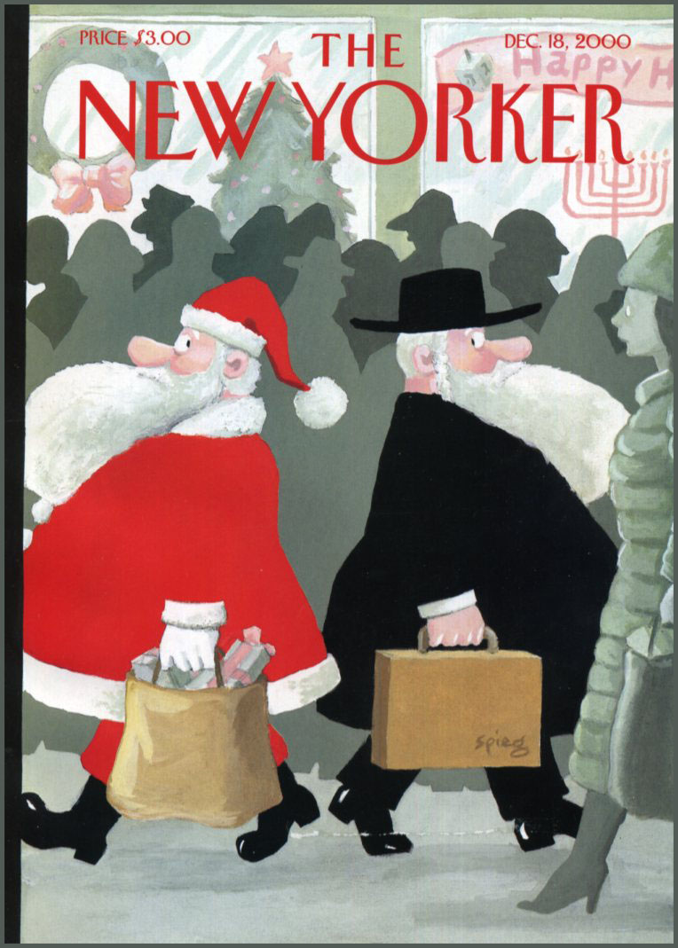The Dec. 18, 2000 issue of the <i>New Yorker</i>, which highlights differences between religions and mass marketing during the holidays.