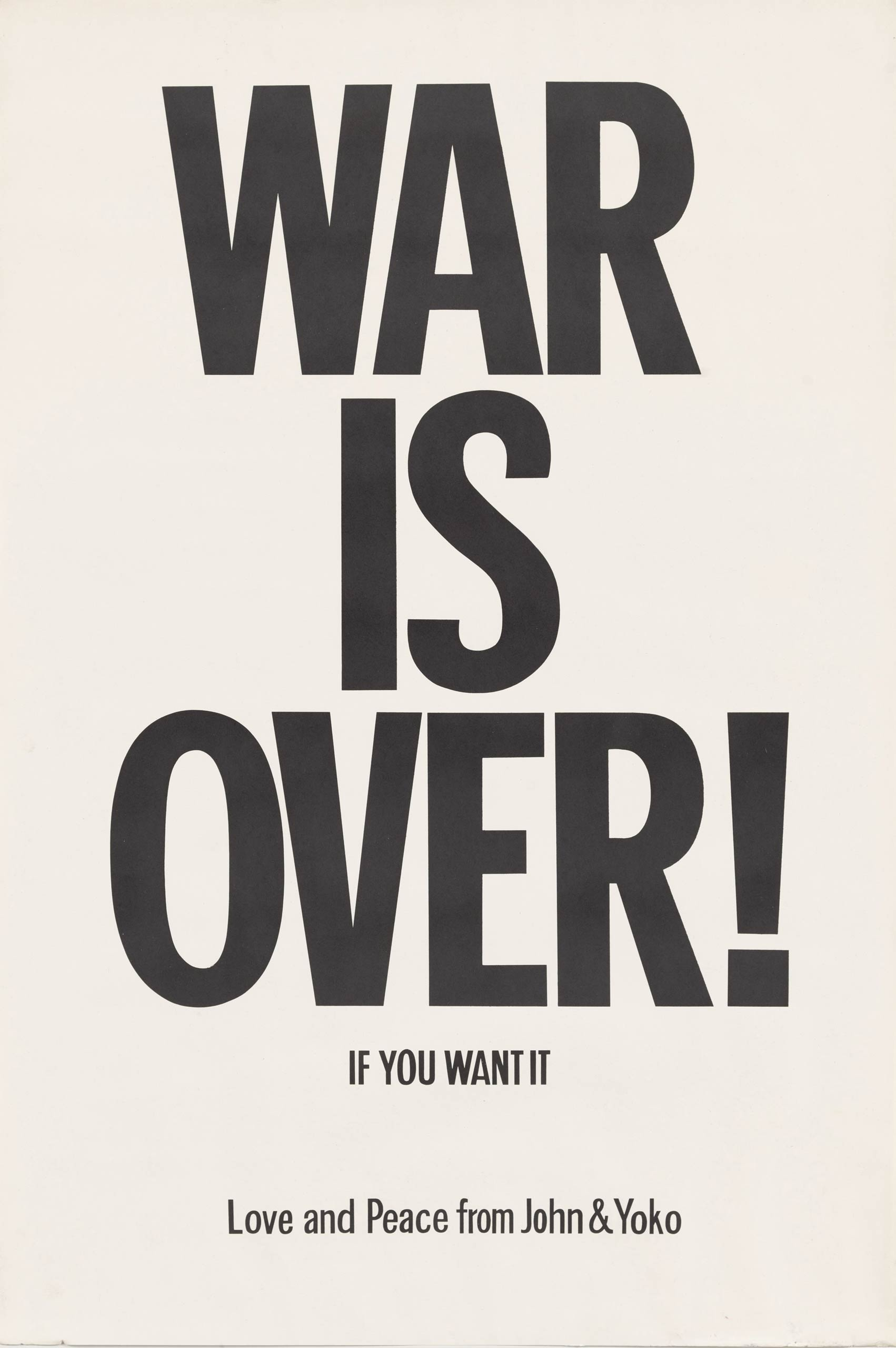 <i>WAR IS OVER! if you want it</i>, 1969