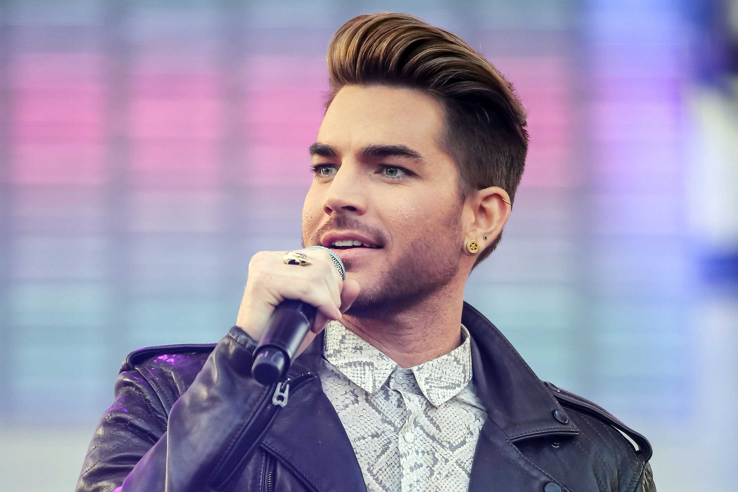 <b>Adam Lambert</b>, season 8 runner-up, is seen onstage at 102.7 KIIS FM's Wango Tango at StubHub Center in Los Angeles on May 9, 2015.