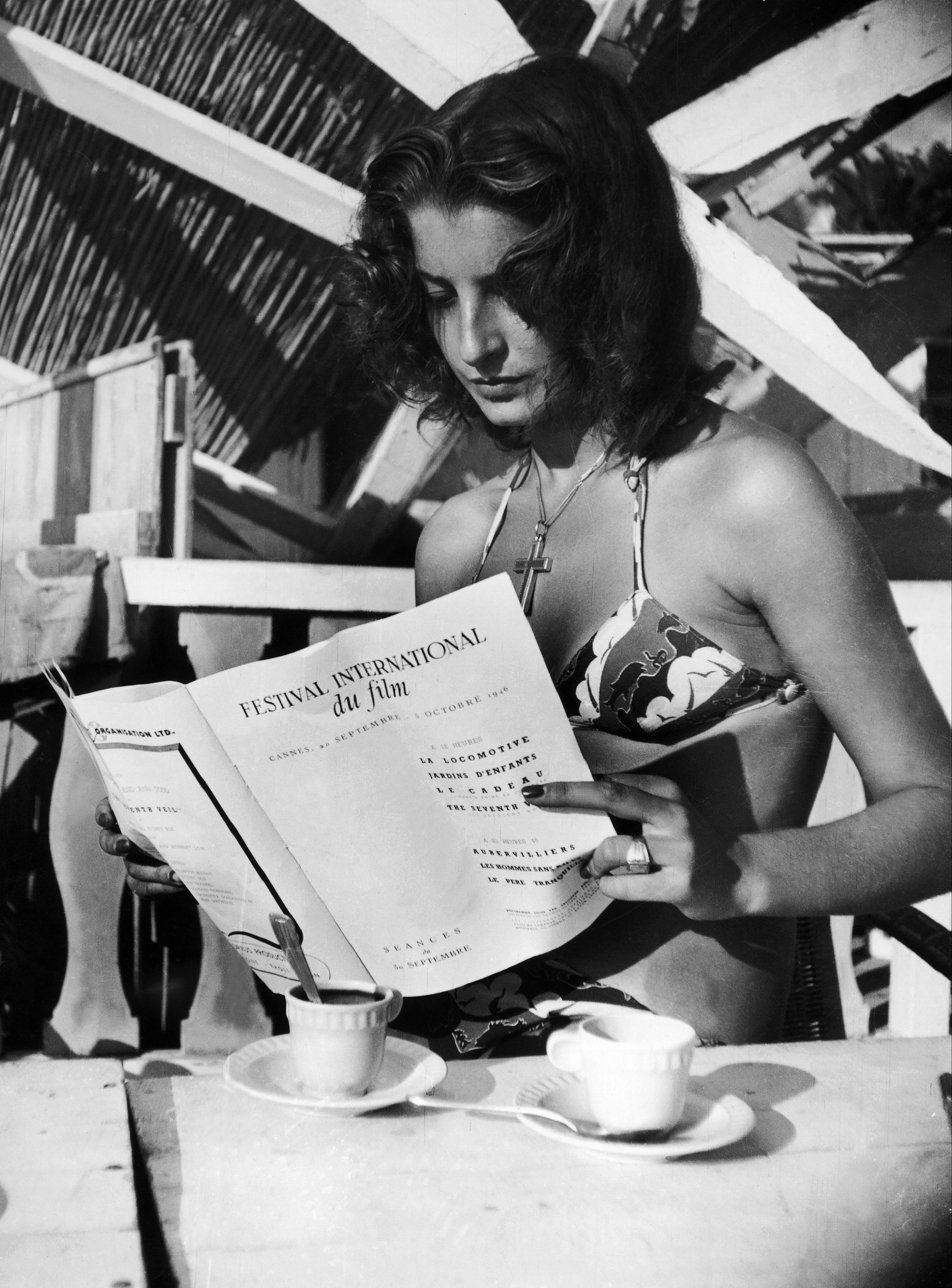 Miss Cannes in Cannes, France, 1946.