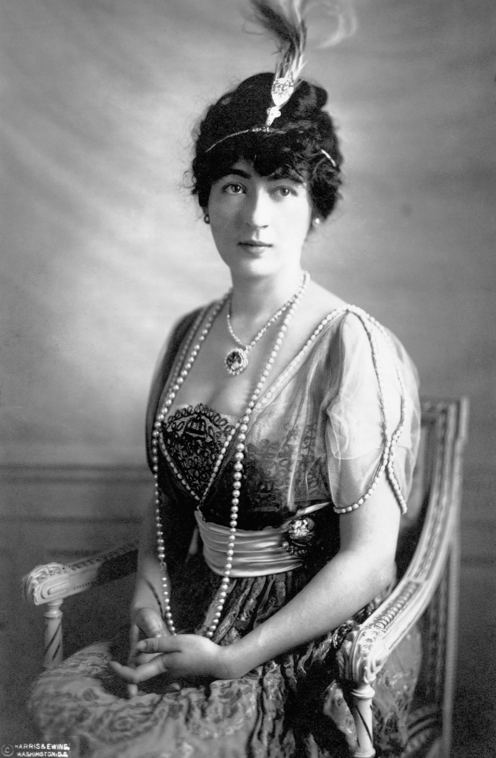 Evalyn Walsh McLean, owner of the Hope Diamond, circa early 1900s