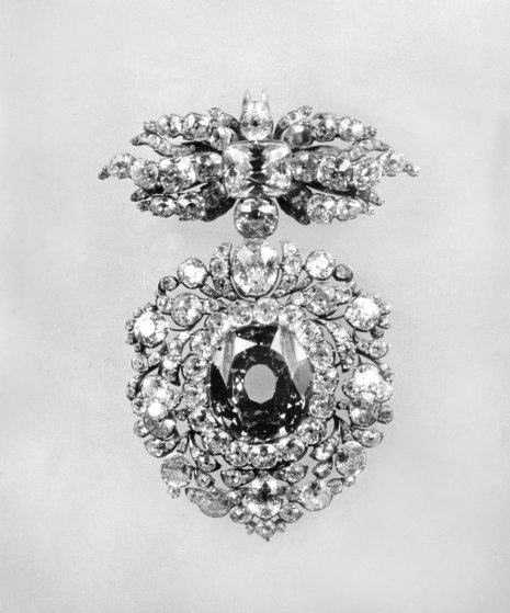 The famous Wittelsbach Blue Diamond, brought into the Wittelsbach family by Maria Amelia of Austria on her marriage to Charles Albert Duke of Bavaria in 1722—Part of the collection of the Bavarian Royal Jewels, 1931.