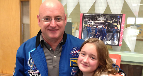 Scott Kelly and Charlotte Kelly