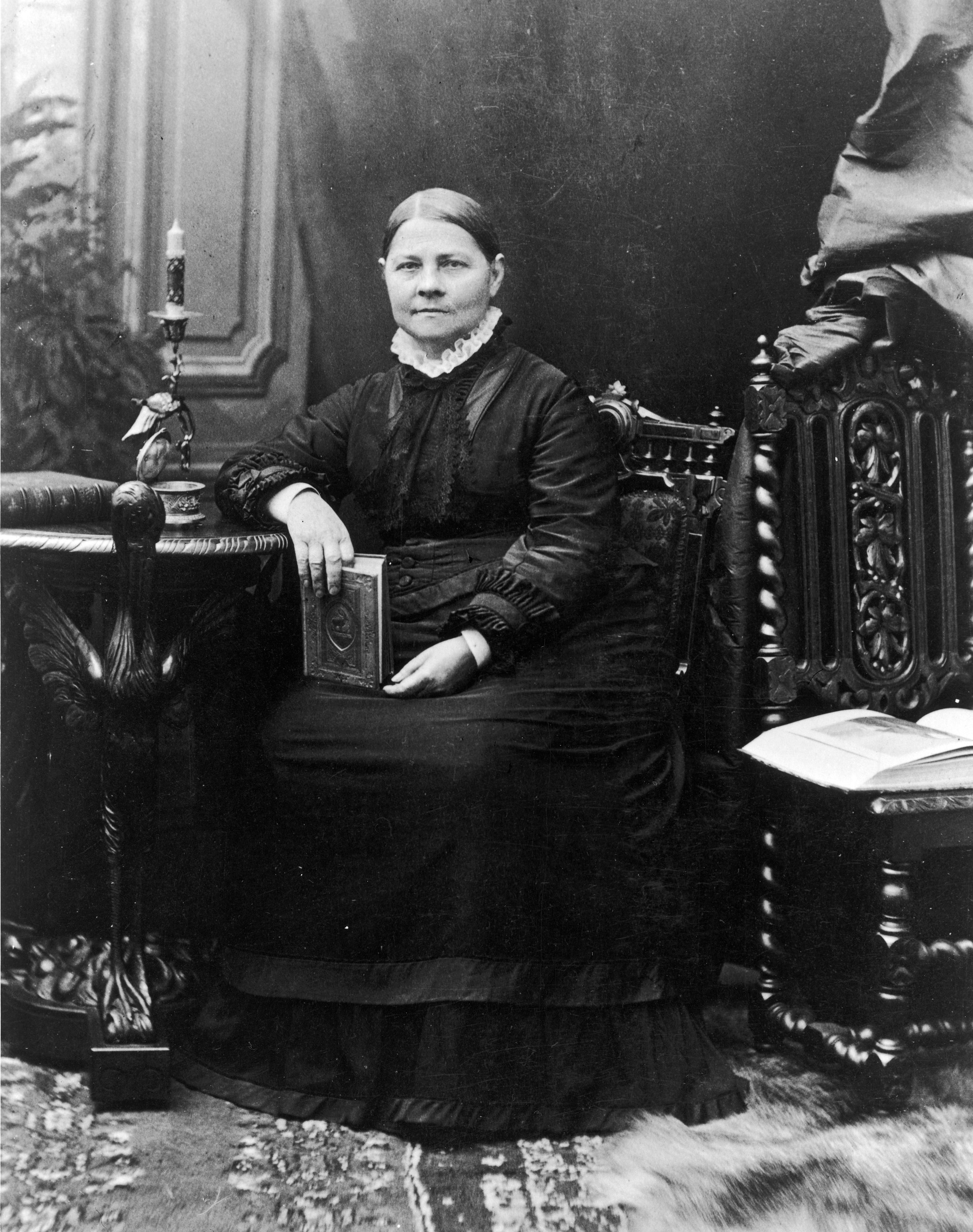 Lucy Stone  (1818-1893), pictured circa 1860s.Stone, the first woman from Massachusetts to earn a college degree, was an abolitionist and suffrage supporter. She helped plan the first U.S. Women's Rights Convention in 1850.