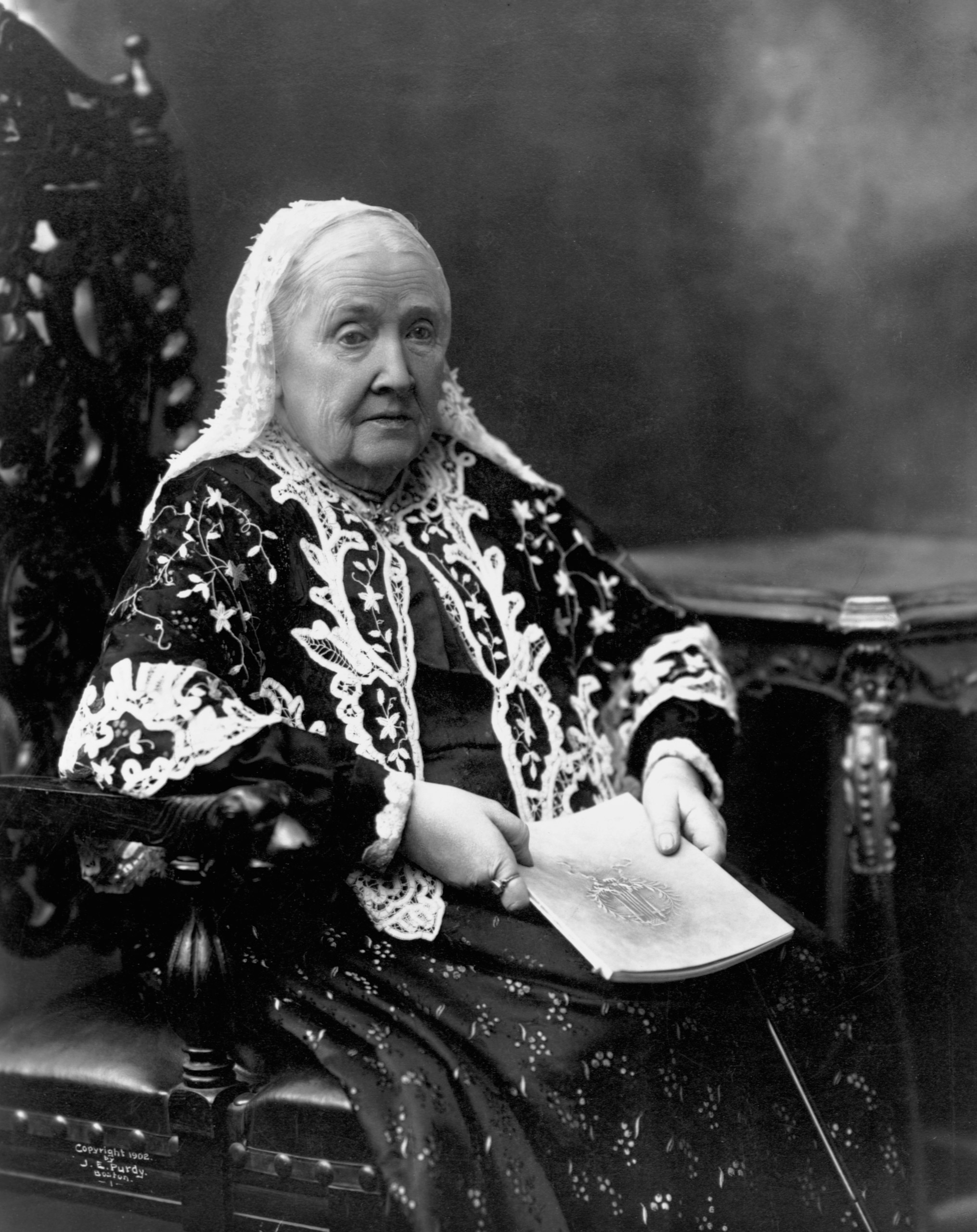 Julia Ward Howe (1819-1910), pictured circa 1890s.Howe, a poet and heiress, wrote the Battle Hymn of the Republic. She was an editor of the suffragist paper The Woman's Journal.