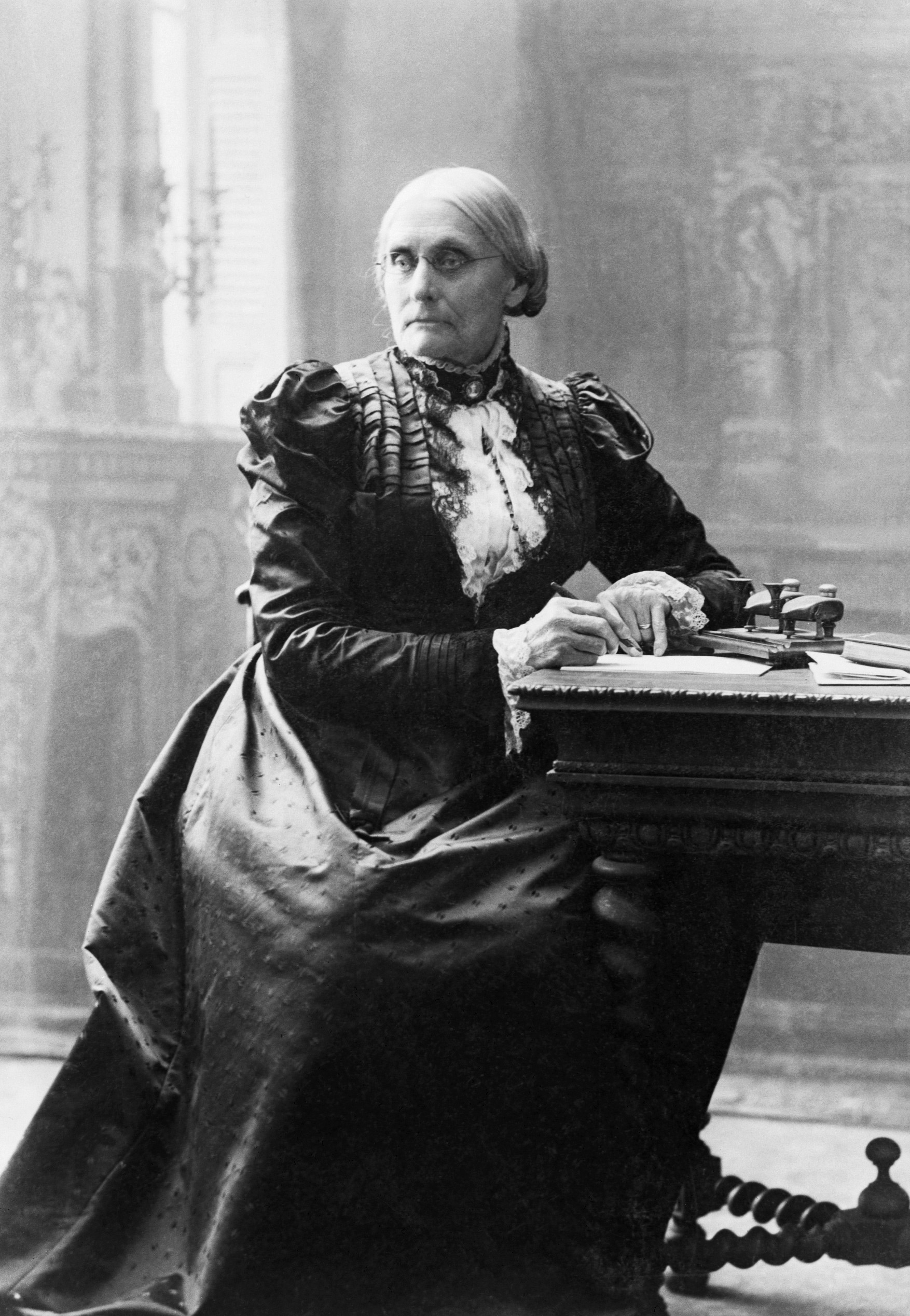 Susan B. Anthony (1820-1906), pictured in 1898.Anthony, one of America's most famous suffrage supporters, spent the bulk of her life traveling the nation advocating for women's rights. She was one of the founders of the National Woman Suffrage Association.