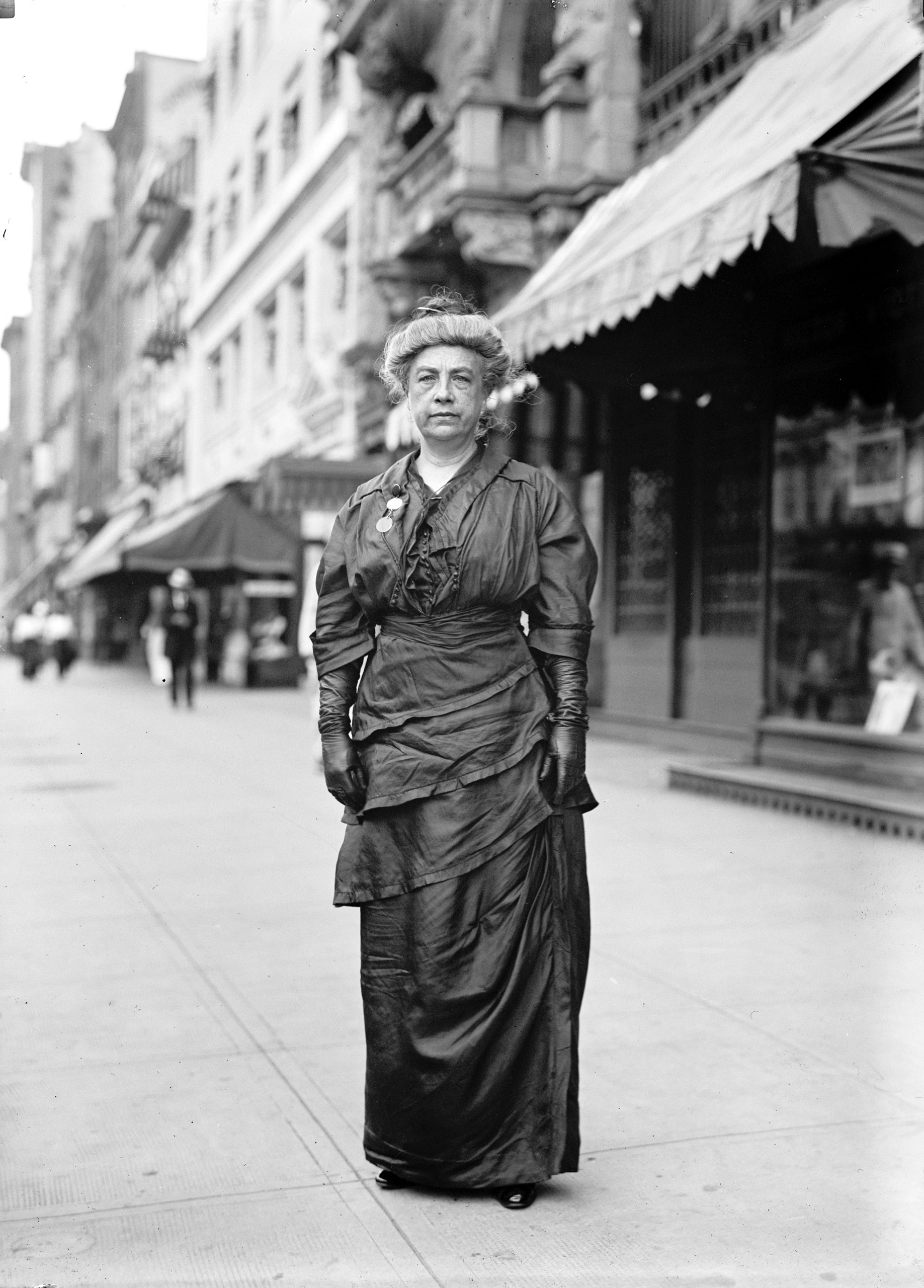 Kate M. Gordon (1861-1932), pictured in 1914.Gordon was a founder of the Southern States Woman Suffrage Conference. She was, surprisingly enough, opposed to an Constitutional amendment giving women the vote; rather, she supported suffrage guarantees on a state level.