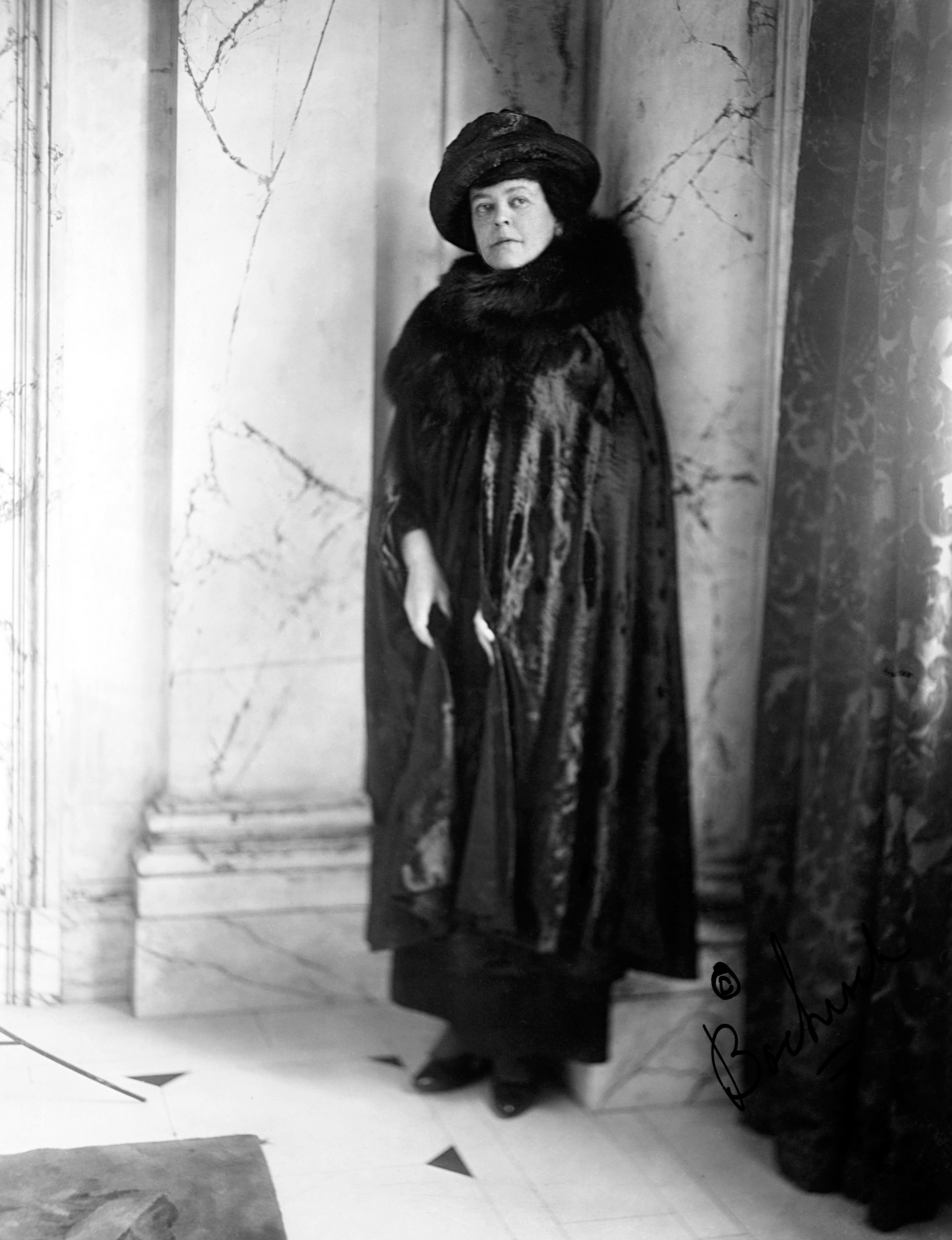 Alva Ertskin Belmont (1853-1933), pictured in 1910.Belmont, a socialite who came to the suffrage movement relatively late in life, was president of the National Woman's Party and a founder of the Political Equality League. She also provided great financial support for the movement.