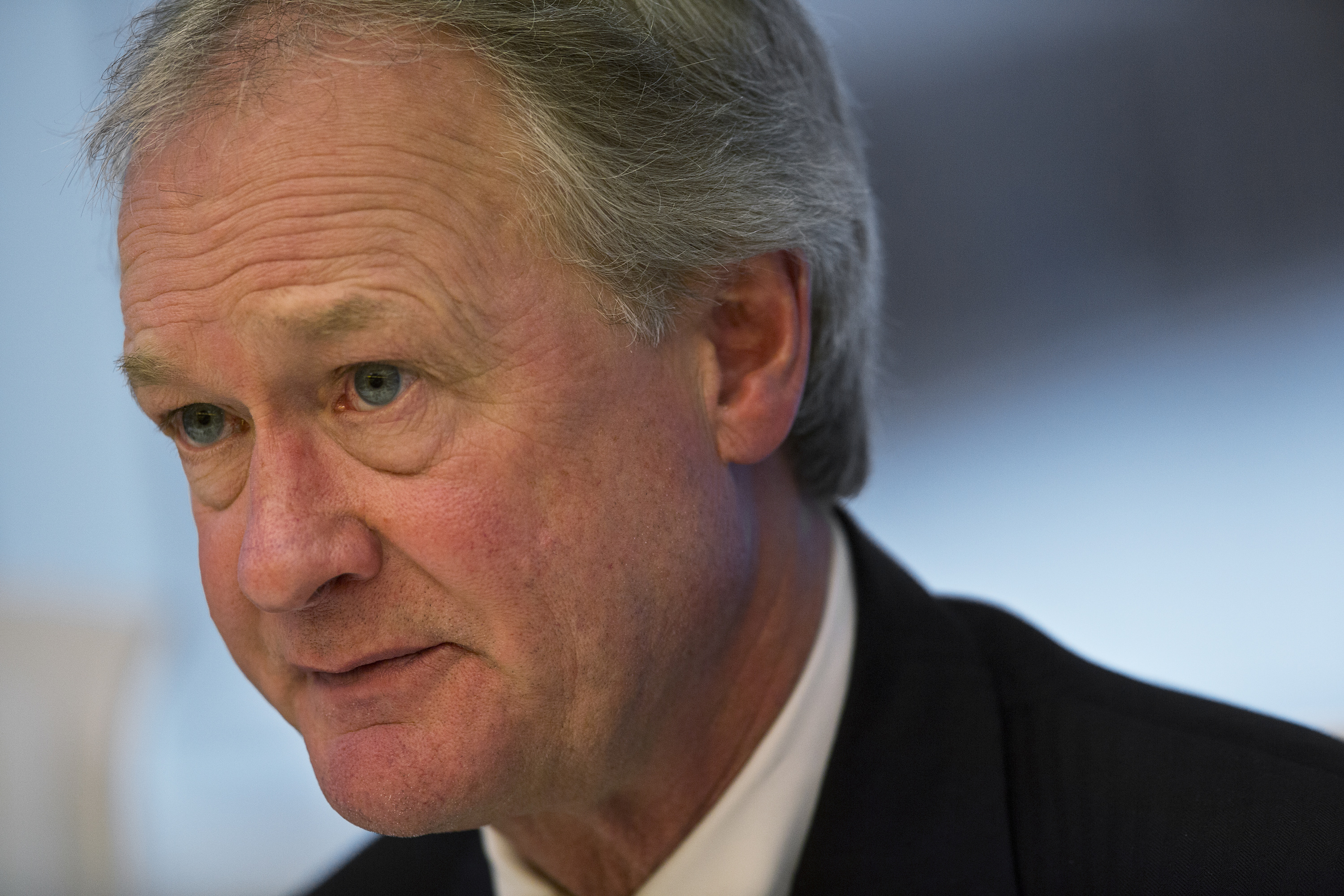 Lincoln Chafee, governor of Rhode Island, speaks during an interview in New York, U.S., on Monday, April 29, 2013.