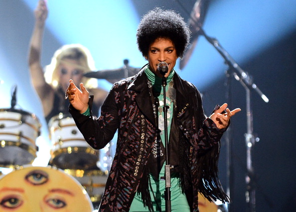 Prince performs during the Billboard Music Awards at the MGM Grand Garden Arena in Las Vegas on May 19, 2013