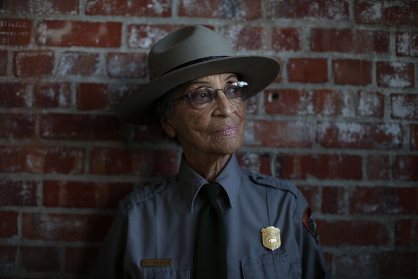 National Park Service ranger Betty Reid Soskin poses for a portrait at the Rosie the Riveter/World War II Home Front National Historical Park in Richmond, Calif., on Oct. 24, 2013