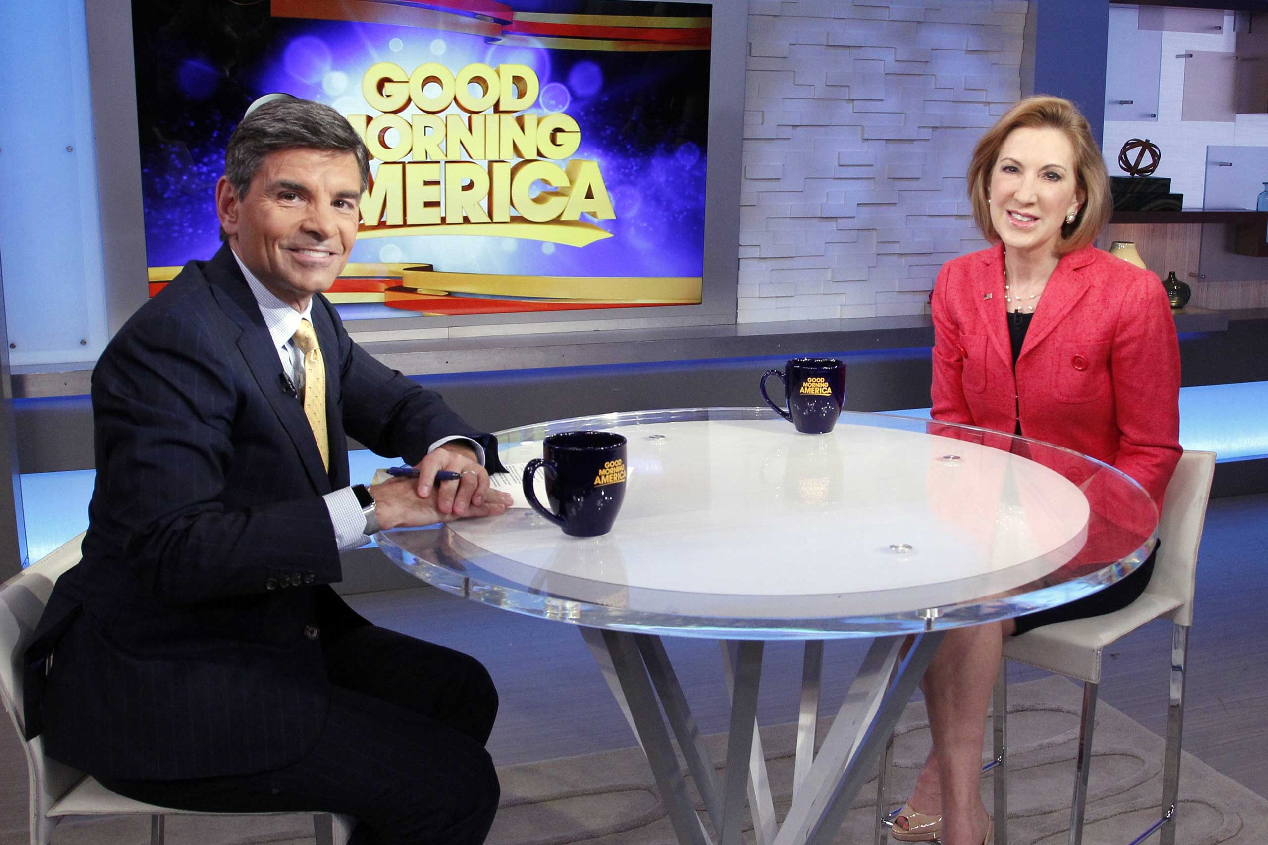 "Former Hewlett-Packard CEO Carly Fiorina announced her campaign for the Republican nomination in a conference call on May 4, then went on ""Good Morning America"" to talk to George Stephanopoulos."