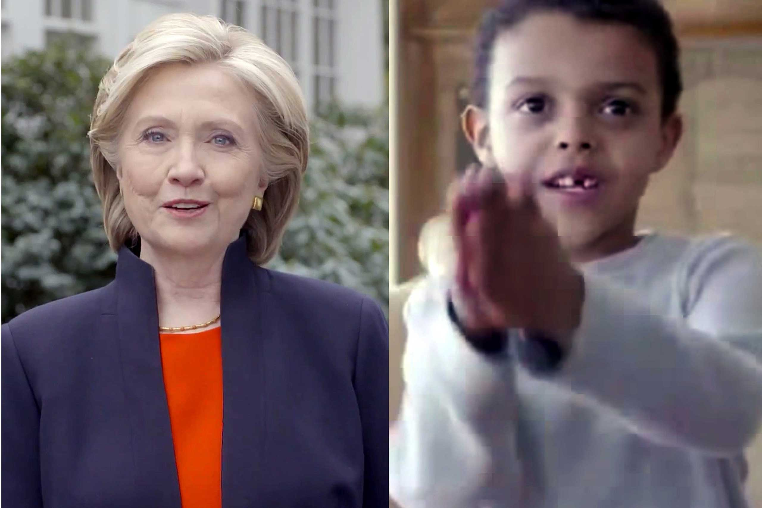 Former Secretary of State Hillary Clinton announced her campaign in a YouTube video posted April 12 that has been seen nearly 4.5 million times. One boy featured in the video boasted about playing a fish in a school play.