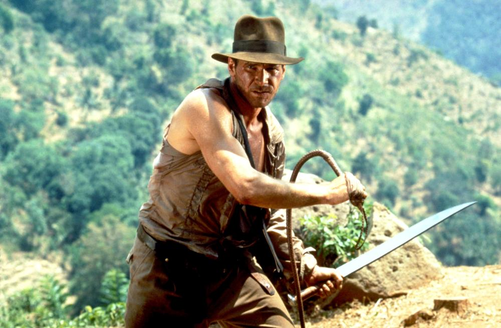 Harrison Ford as Indiana Jones in  Indiana Jones and the Temple of Doom.