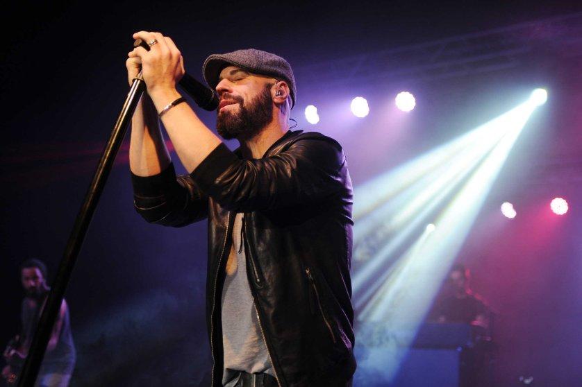 Chris Daughtry performs at Pompano Beach Amphitheatre in Pompano Beach, Fla. on Nov. 12, 2014.