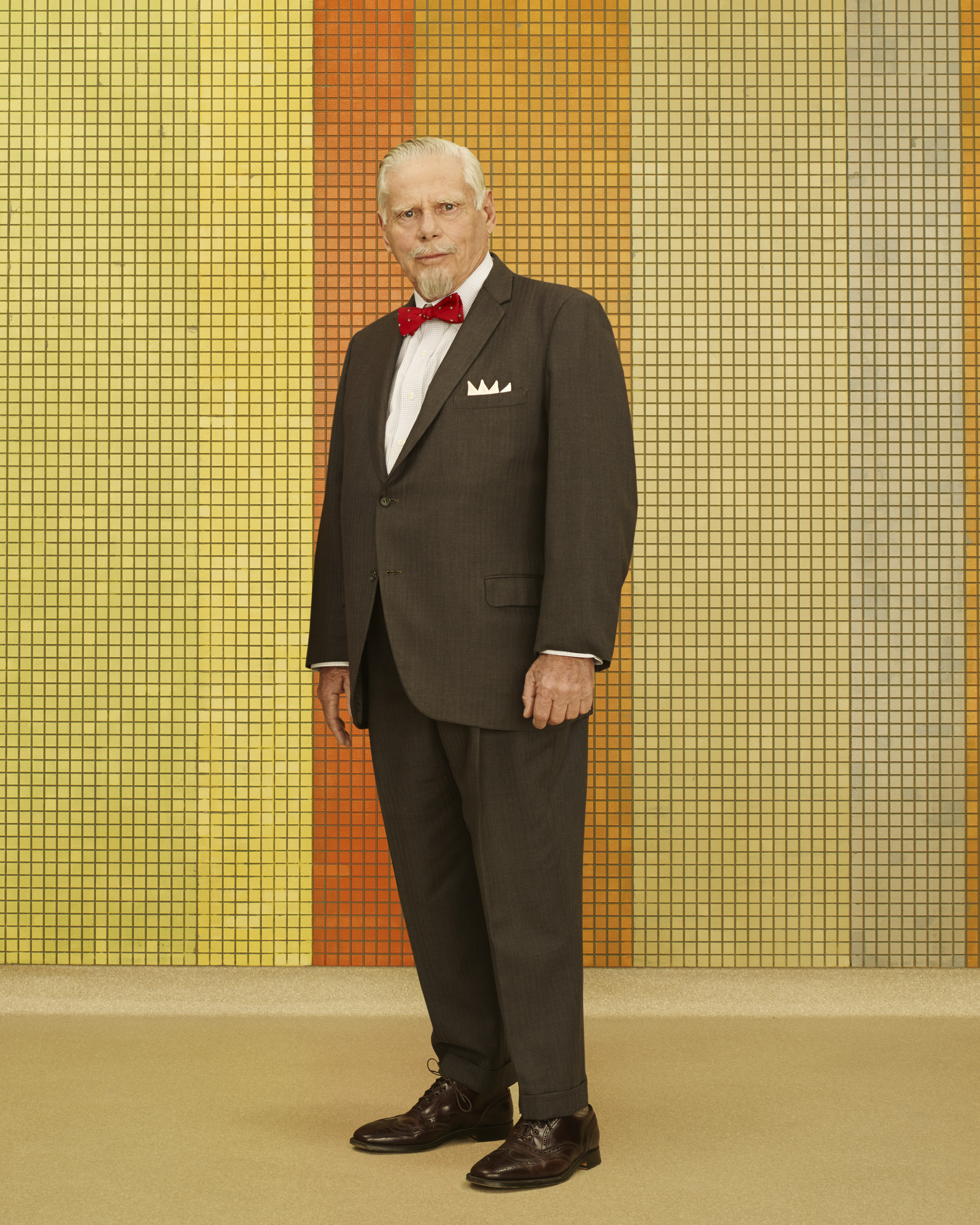 Robert Morse as Bertram Cooper on  Mad Men.