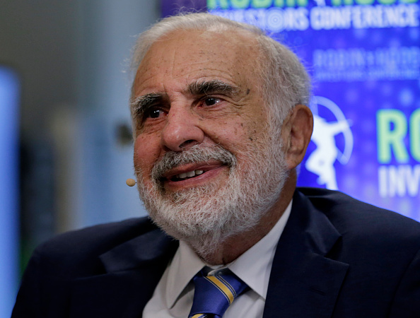 Billionaire activist investor Carl Icahn speaks during a Bloomberg Television interview at the Robin Hood Investors Conference in New York City on Oct. 21, 2014.
