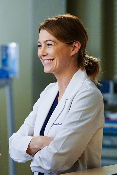 Ellen Pompeo as Meredith Grey in  Grey's Anatomy.