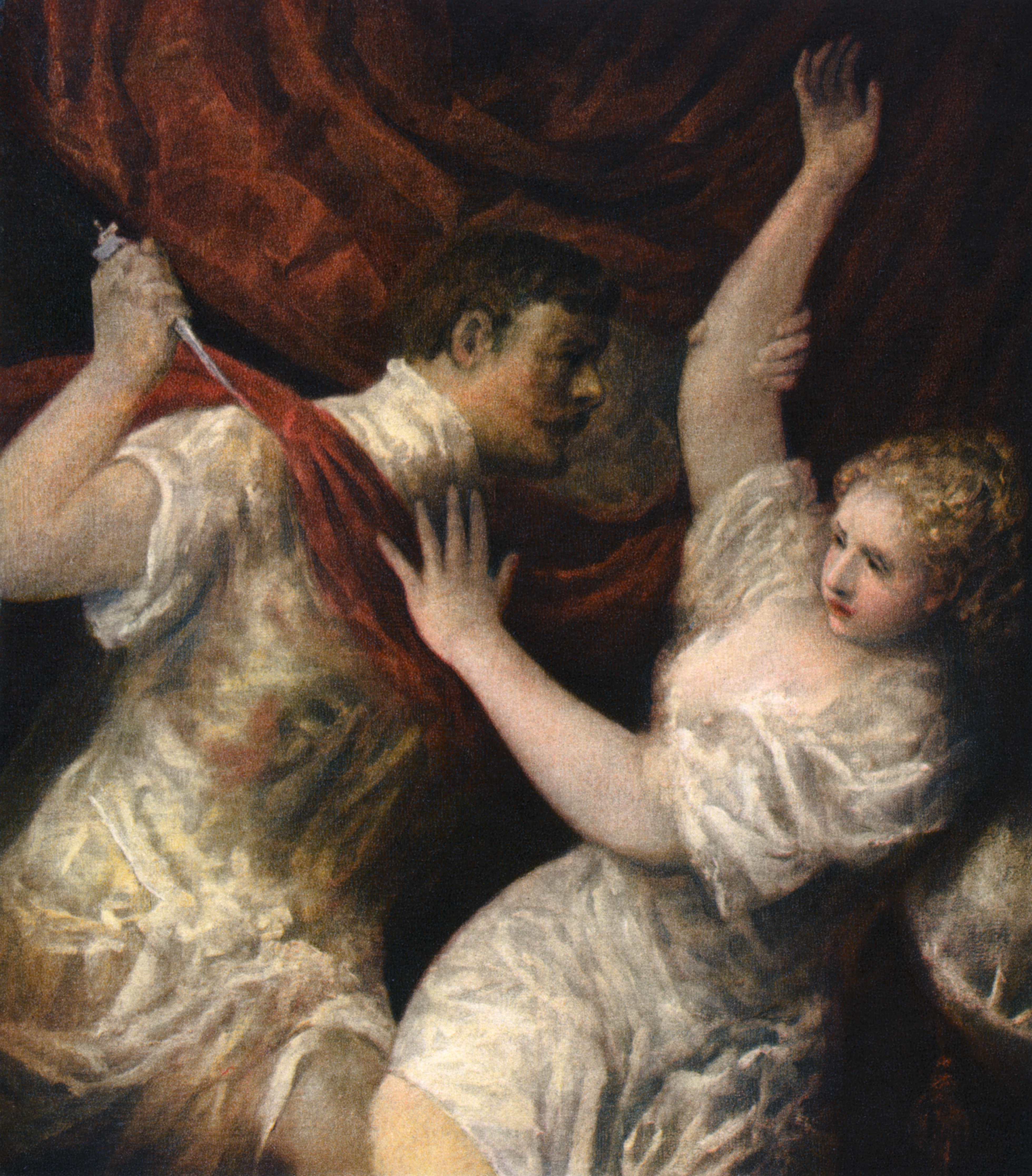 'Lucretia and Tarquinius', c1560s, (1937). A print from Titian Paintings and Drawings, introduction by Hans Tietze, Phaidon Press, Vienna, 1937. Found in the collection of the Akademie der Bildenden Künste, Vienna, Austria.
