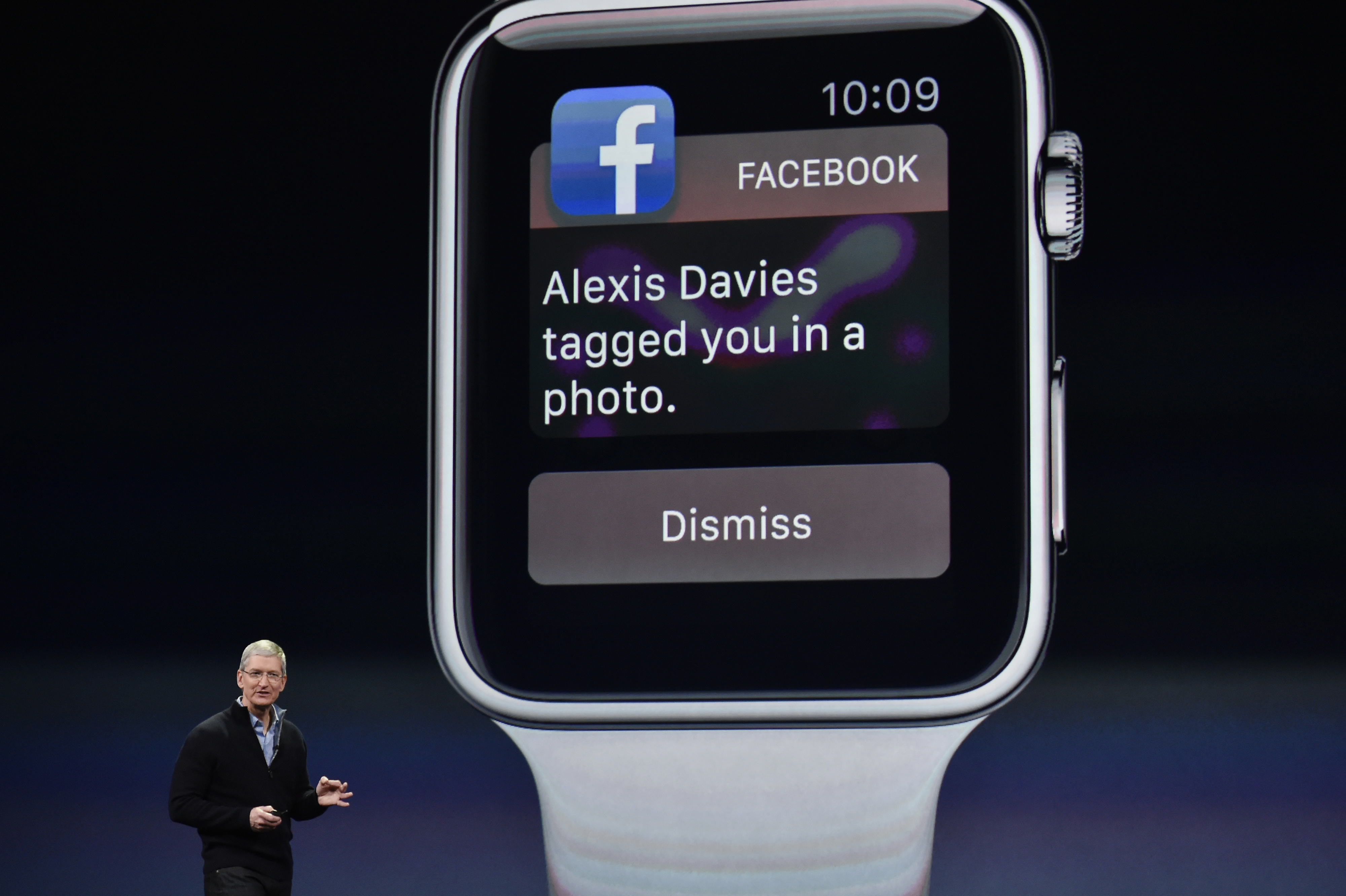 Tim Cook, chief executive officer of Apple Inc., speaks during the Apple Inc. Spring Forward event in San Francisco, California, U.S., on Monday, March 9, 2015.