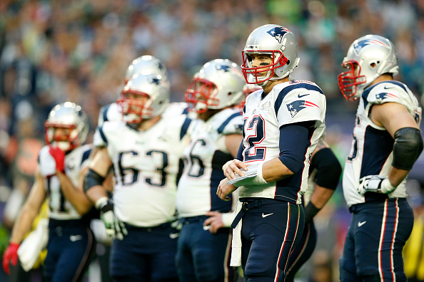Tom Brady of the New England Patriots reacts against the Seattle Seahawks during Super Bowl XLIX at University of Phoenix Stadium in Glendale, Ariz., on Feb. 1, 2015