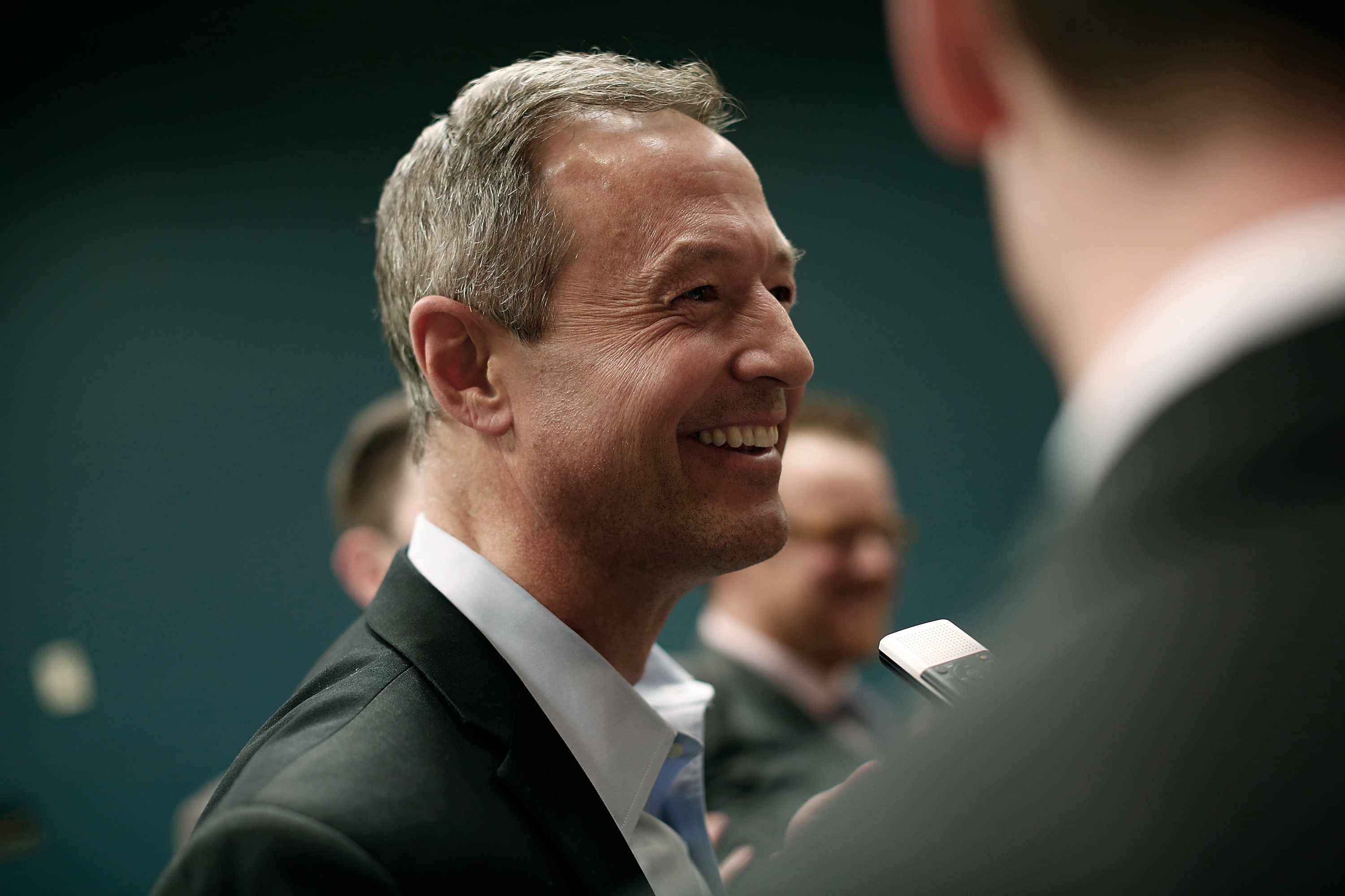 Potential Democratic presidential candidate and former Maryland Gov. Martin O'Malley (D-MD) answers questions from reporters after speaking at the South Carolinna Democratic Party state convention April 25, 2015 in Columbia, South Carolina.