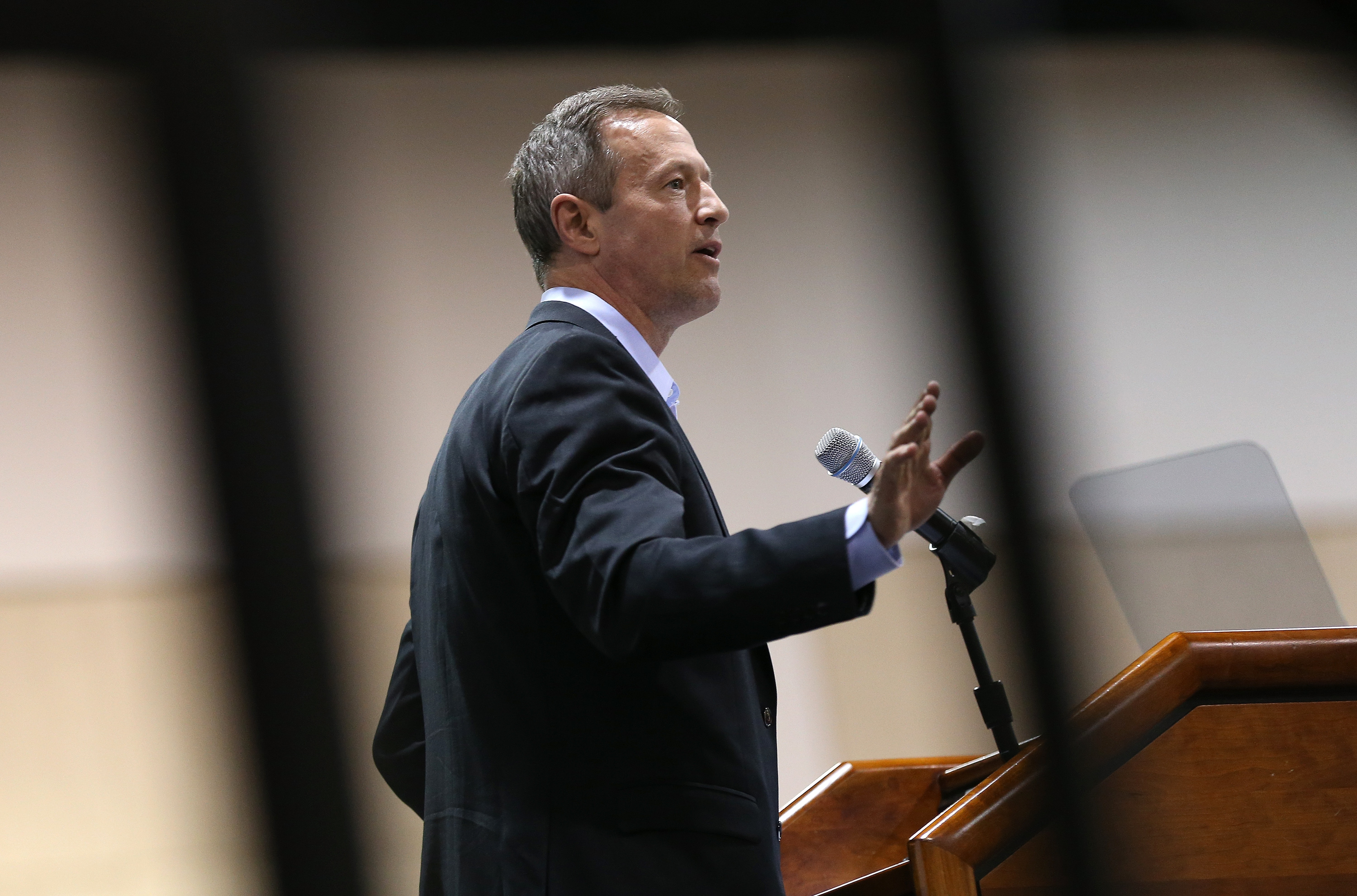 Potential Democratic presidential candidate and former Maryland Gov. Martin O'Malley  delivers remarks at the South Carolinna Democratic Party state convention April 25, 2015 in Columbia, South Carolina.