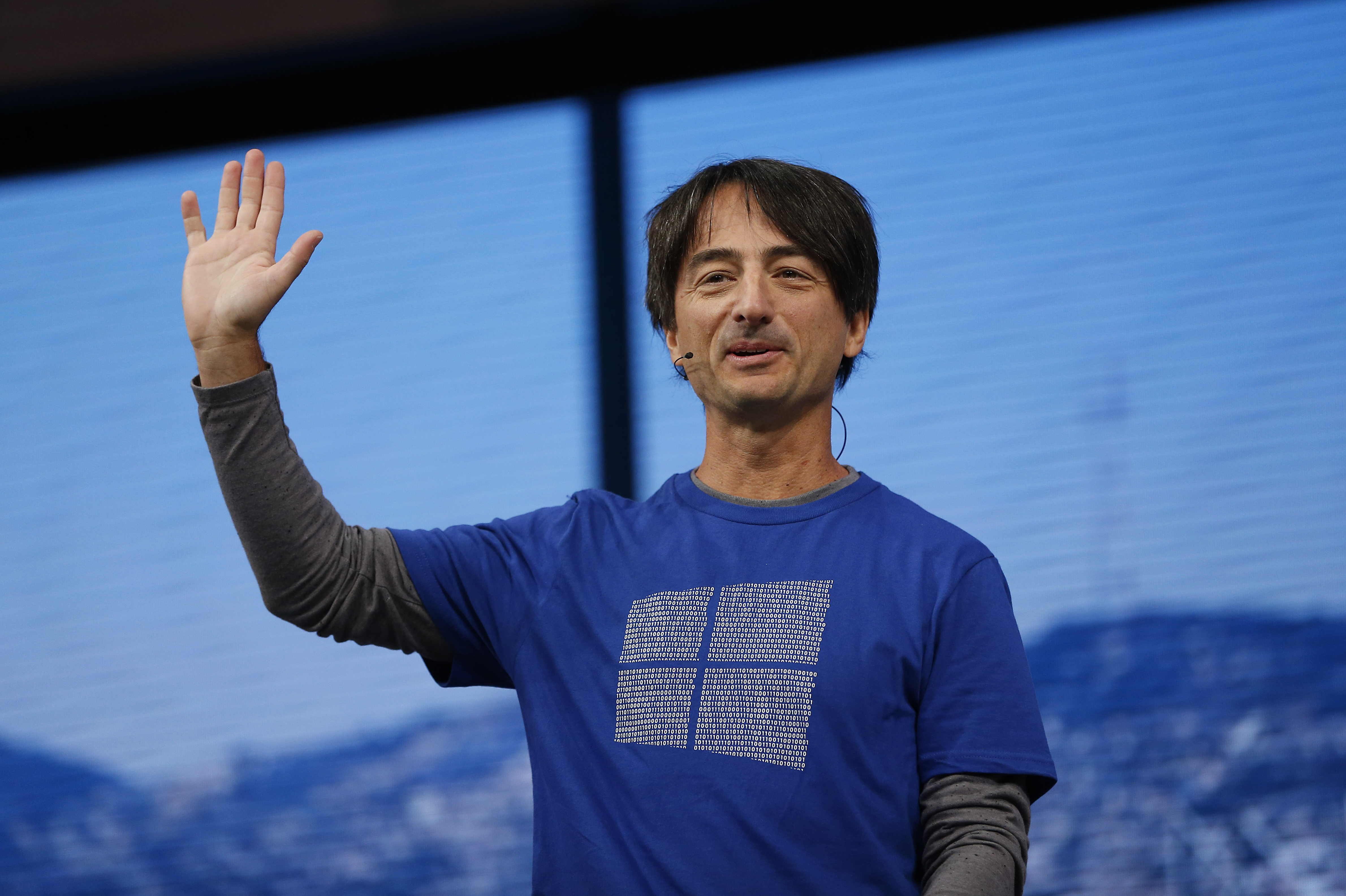 Joe Belfiore, corporate vice president, operating systems group at Microsoft, speaks on stage during the 2015 Microsoft Build Conference on April 29, 2015 at Moscone Center in San Francisco, California.
